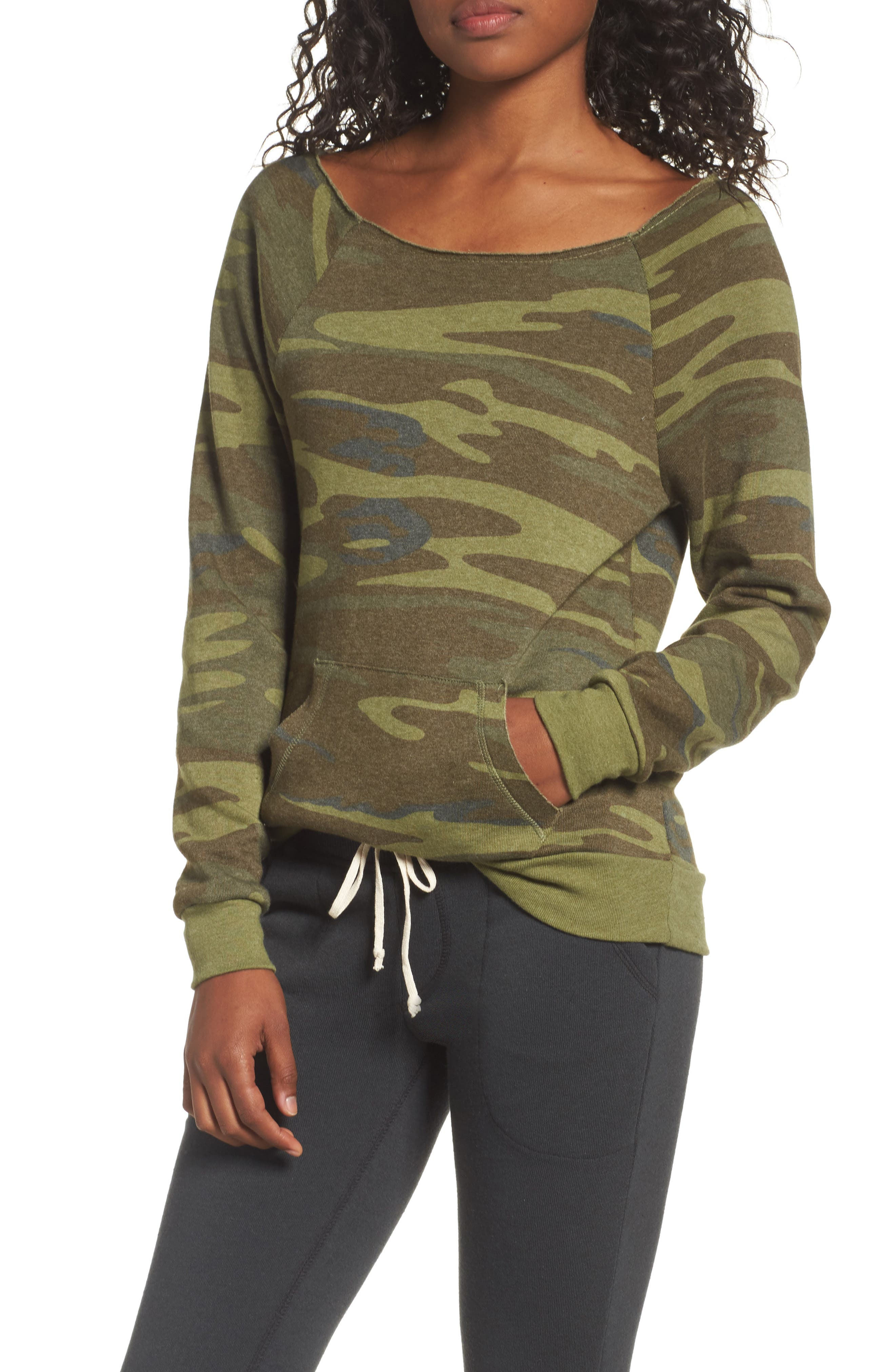 Main Image - Alternative Maniac Camo Fleece Sweatshirt