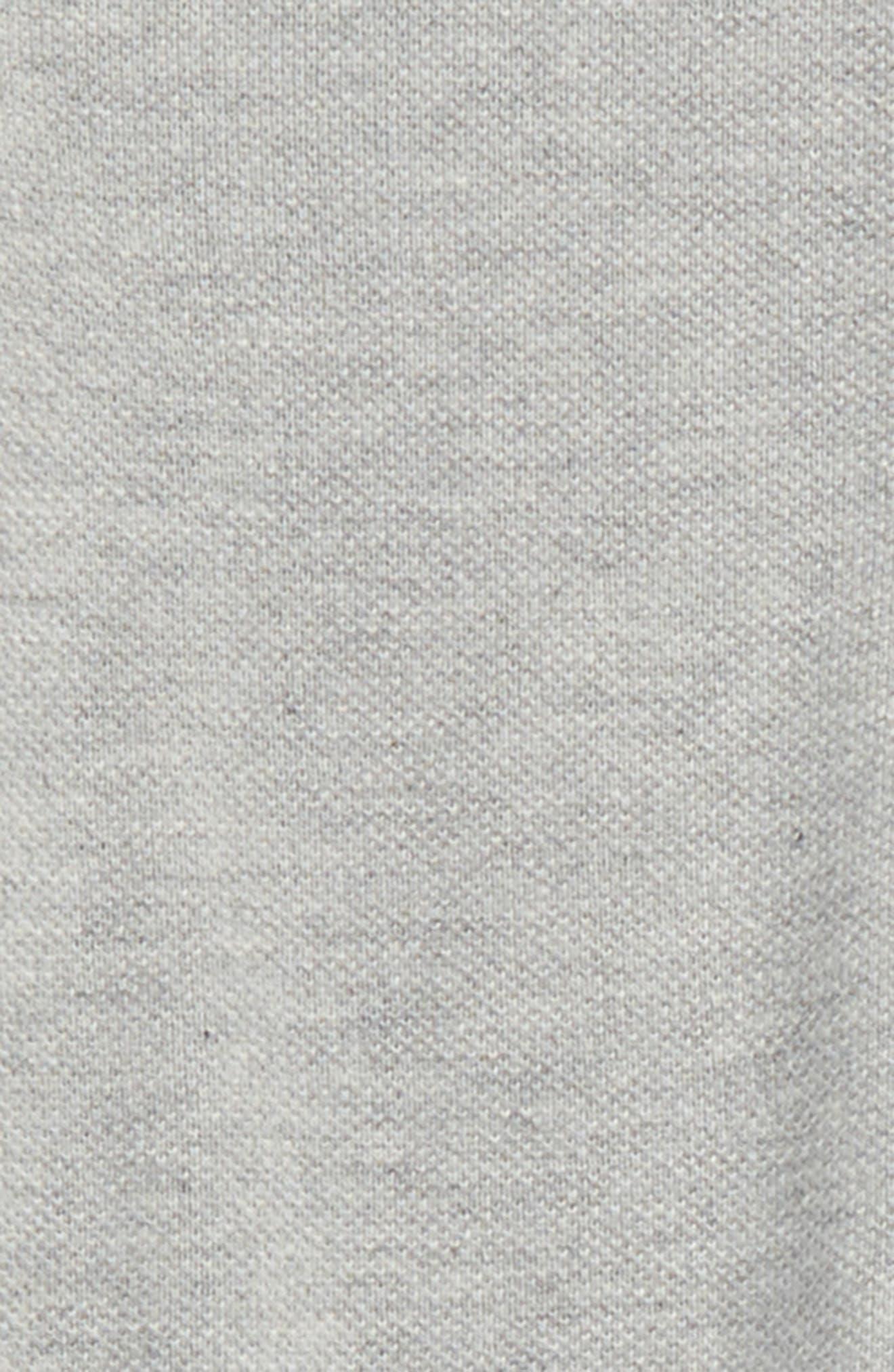 Check Collar Polo,                             Alternate thumbnail 2, color,                             Pale Grey Melange