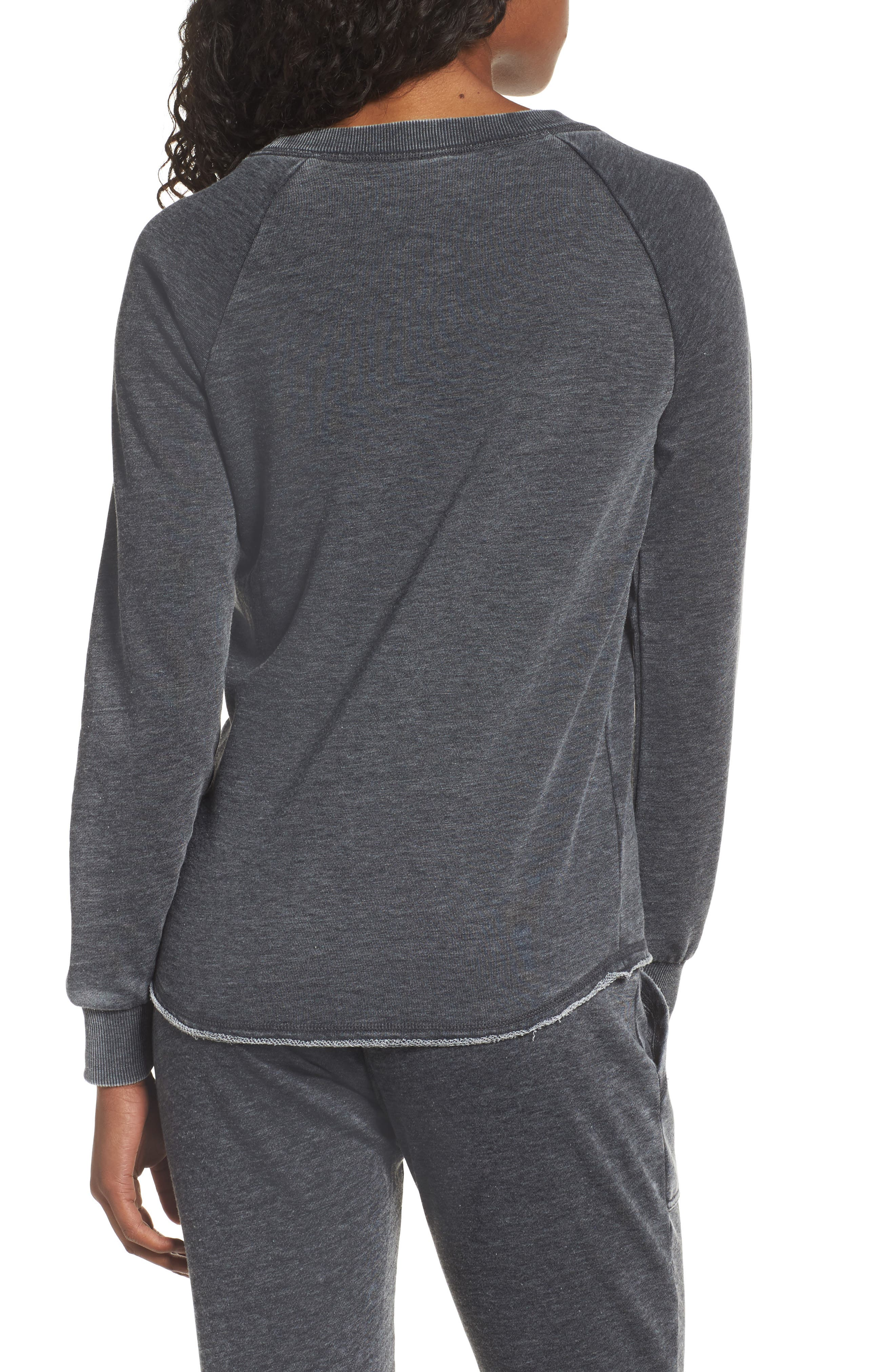 Lazy Day Pullover,                             Alternate thumbnail 2, color,                             Washed Black