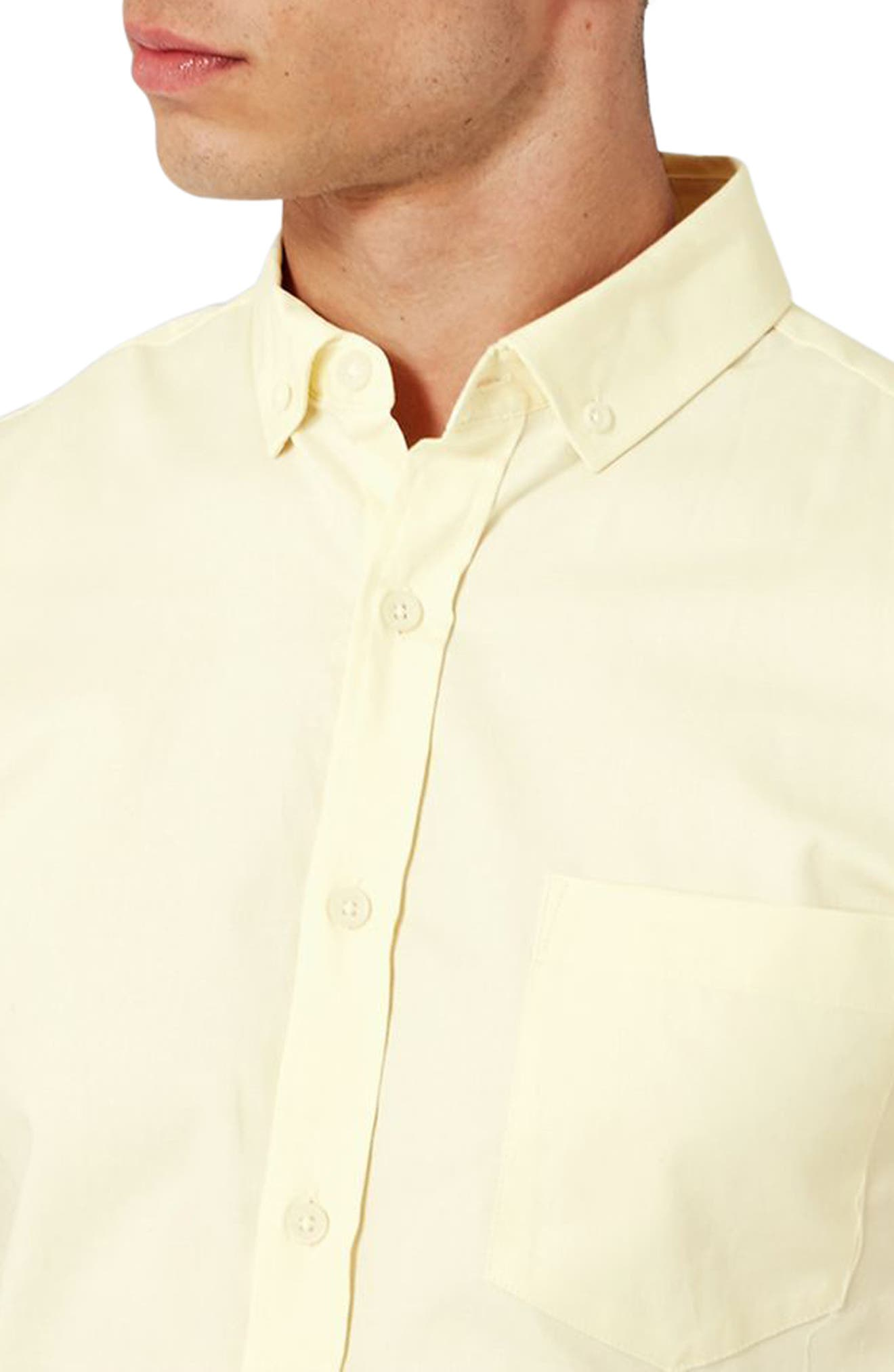 Alternate Image 3  - Topman Slim Fit Stretch Oxford Shirt