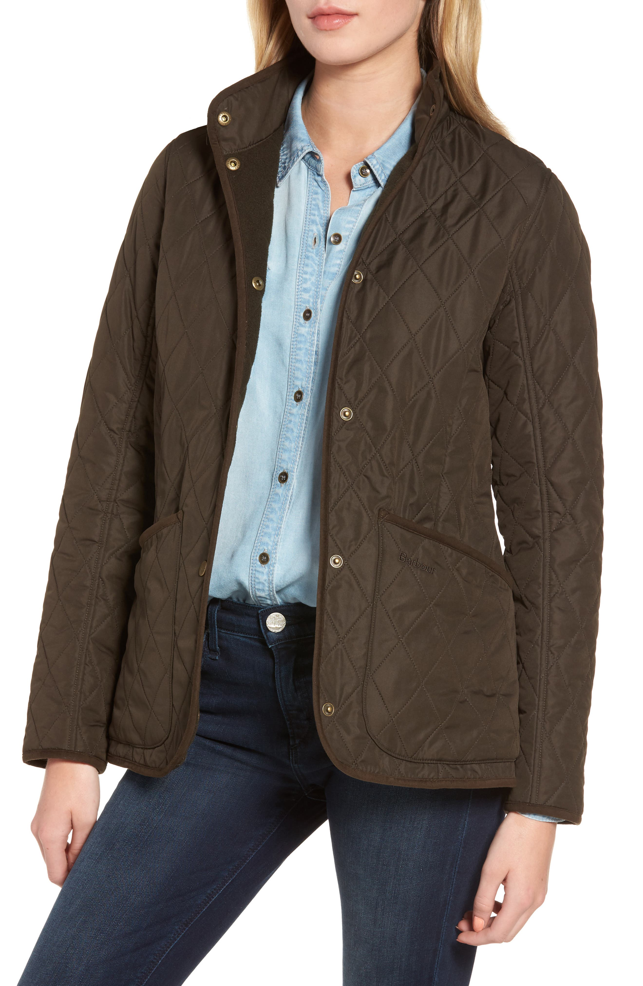 Combe Polarquilt Jacket,                         Main,                         color, Olive