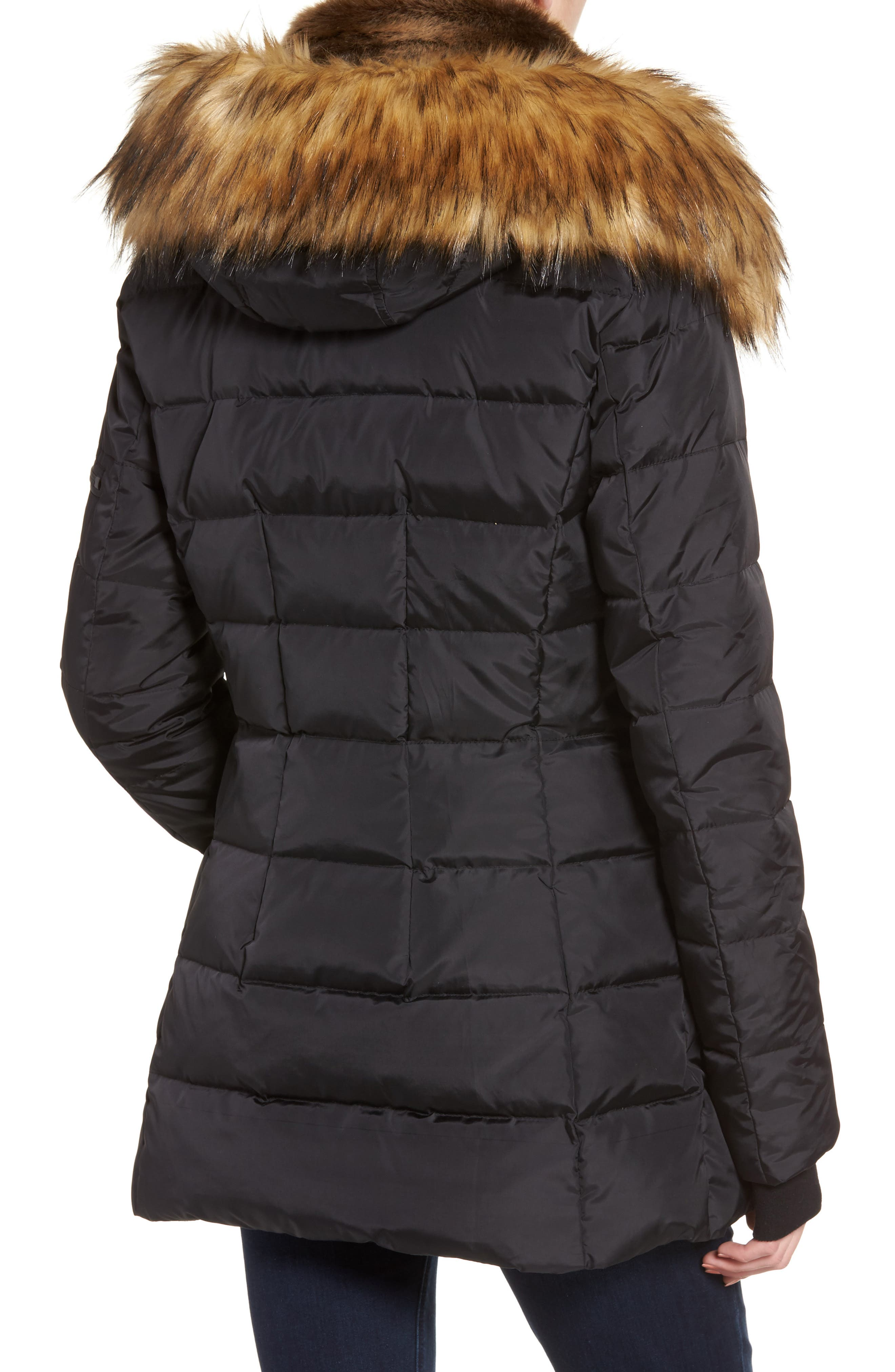 Alternate Image 2  - S13 Faux Fur Hooded Coat