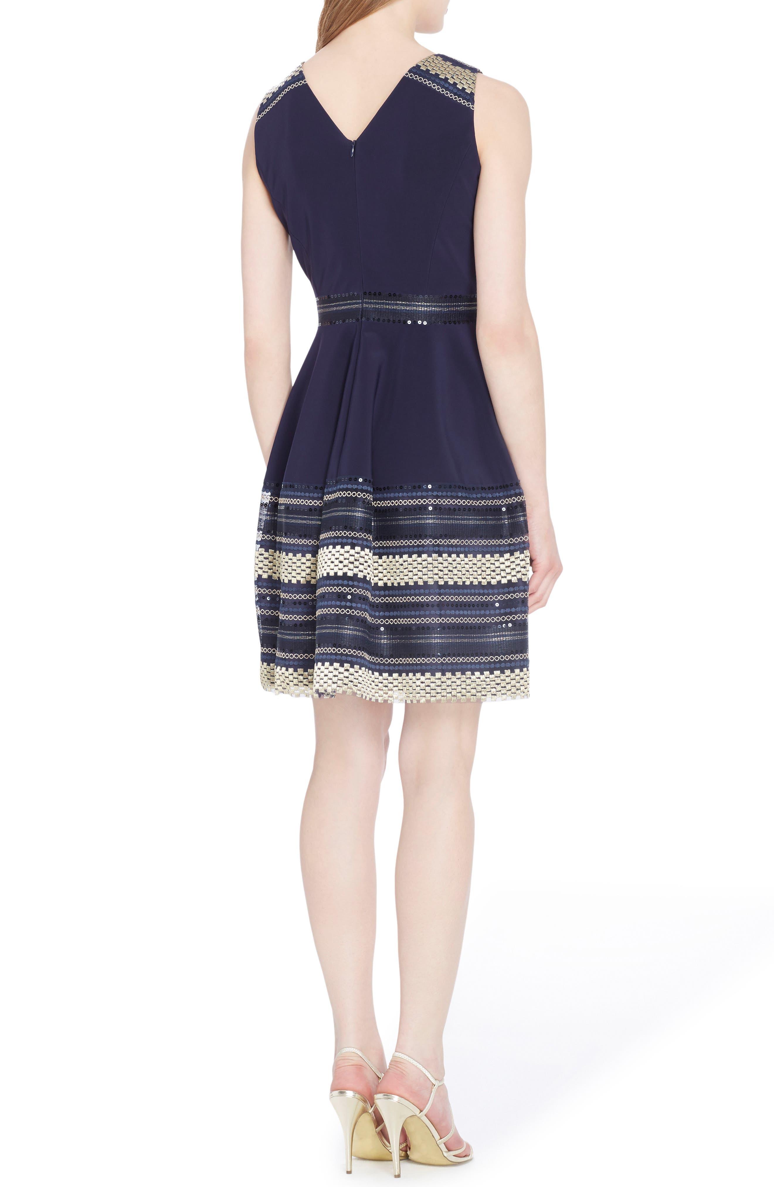 Alternate Image 2  - Tahari Embroidered Fit & Flare Dress (Petite)