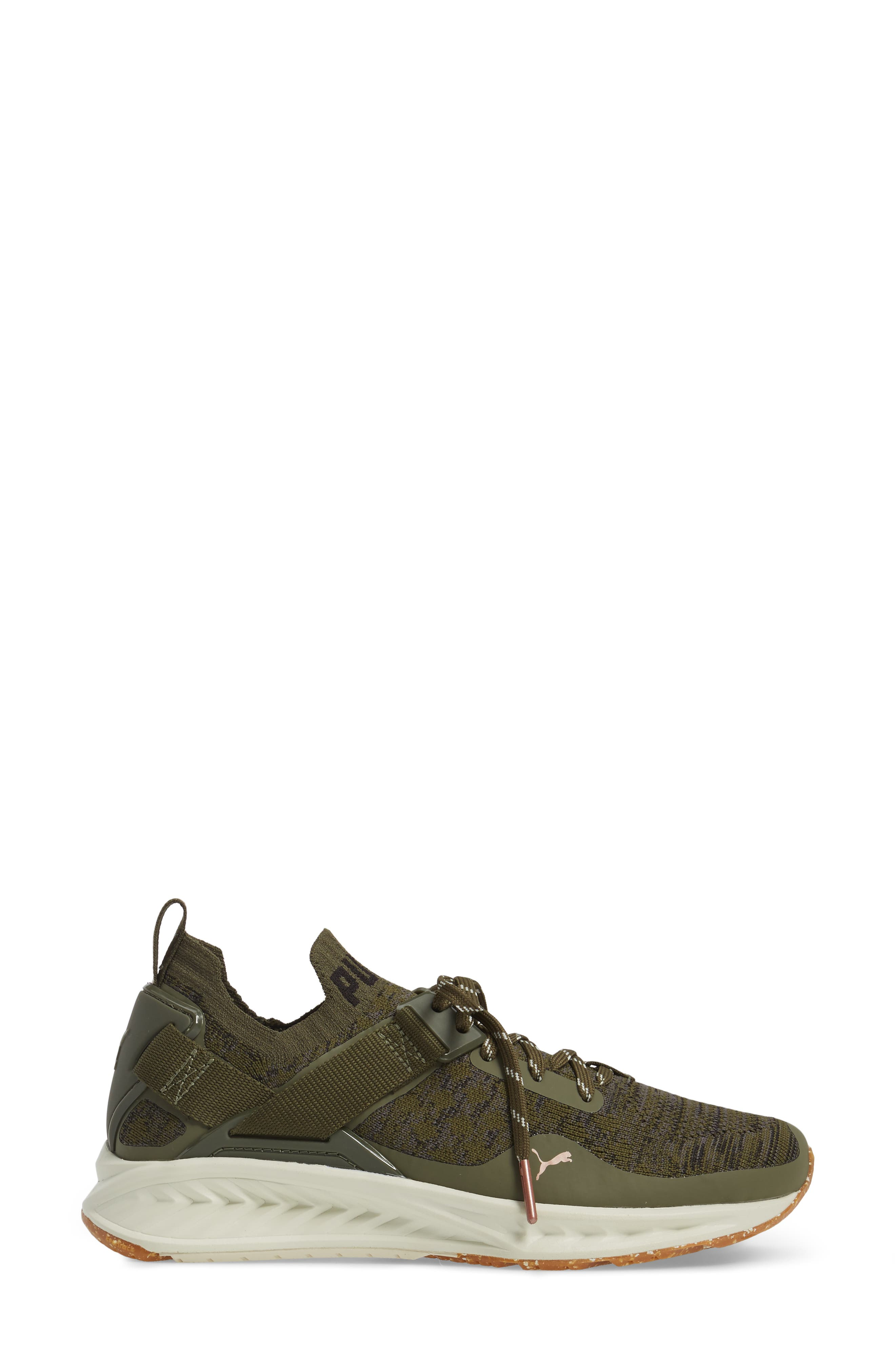 IGNITE evoKNIT Low Sneaker,                             Alternate thumbnail 3, color,                             Olive/ Black/ Quiet Shade