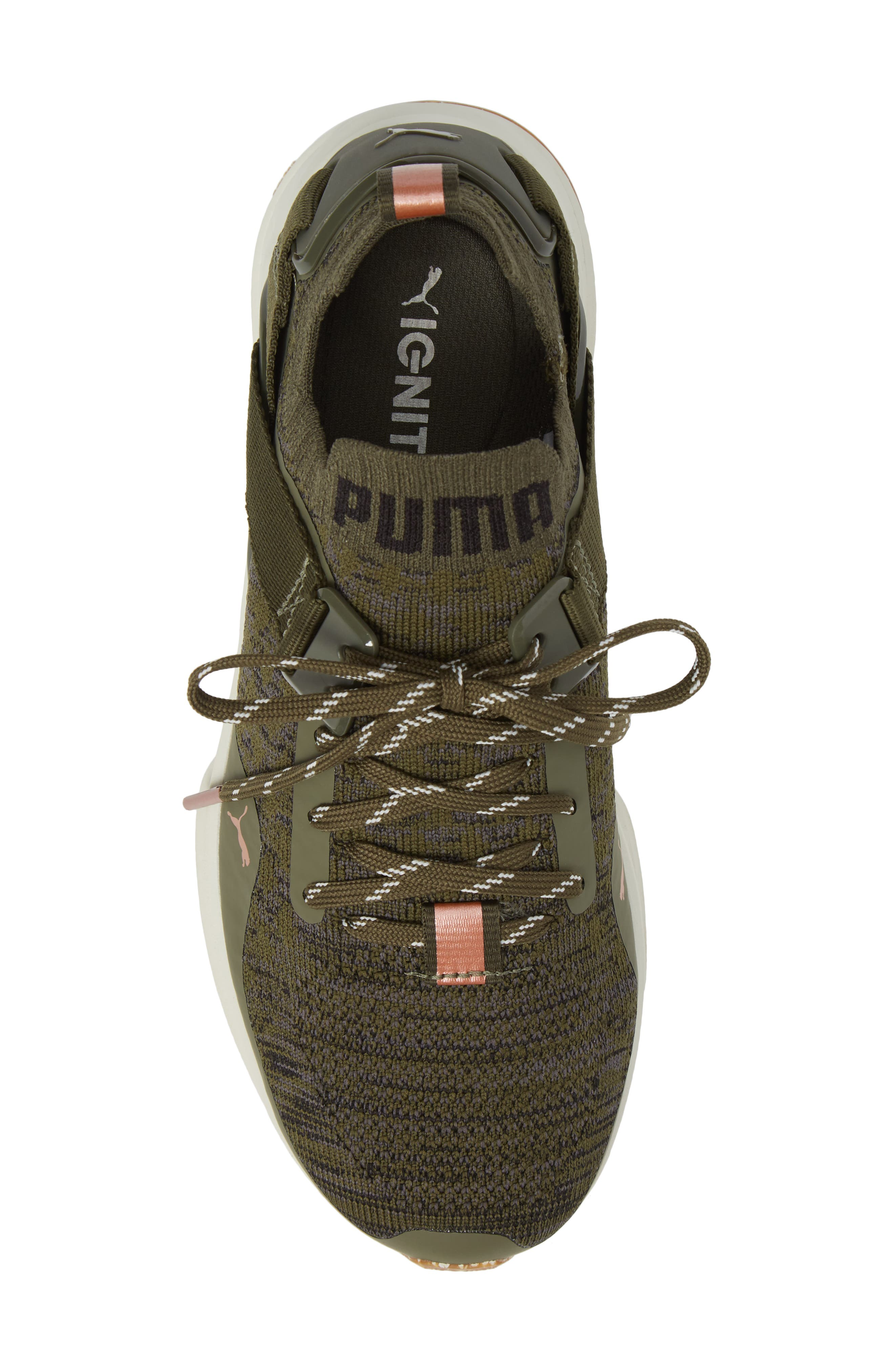 IGNITE evoKNIT Low Sneaker,                             Alternate thumbnail 5, color,                             Olive/ Black/ Quiet Shade
