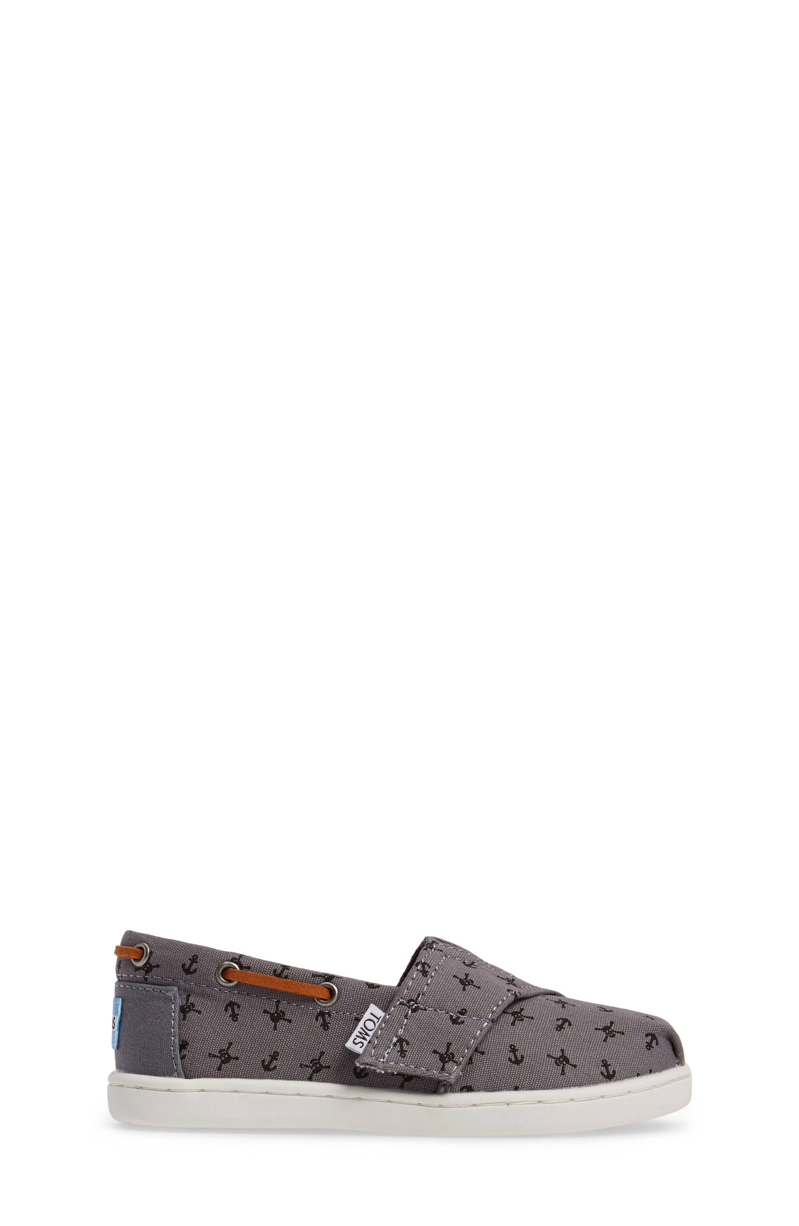 Bimini Print Slip-On,                             Alternate thumbnail 3, color,                             Steel Grey Skulls Canvas