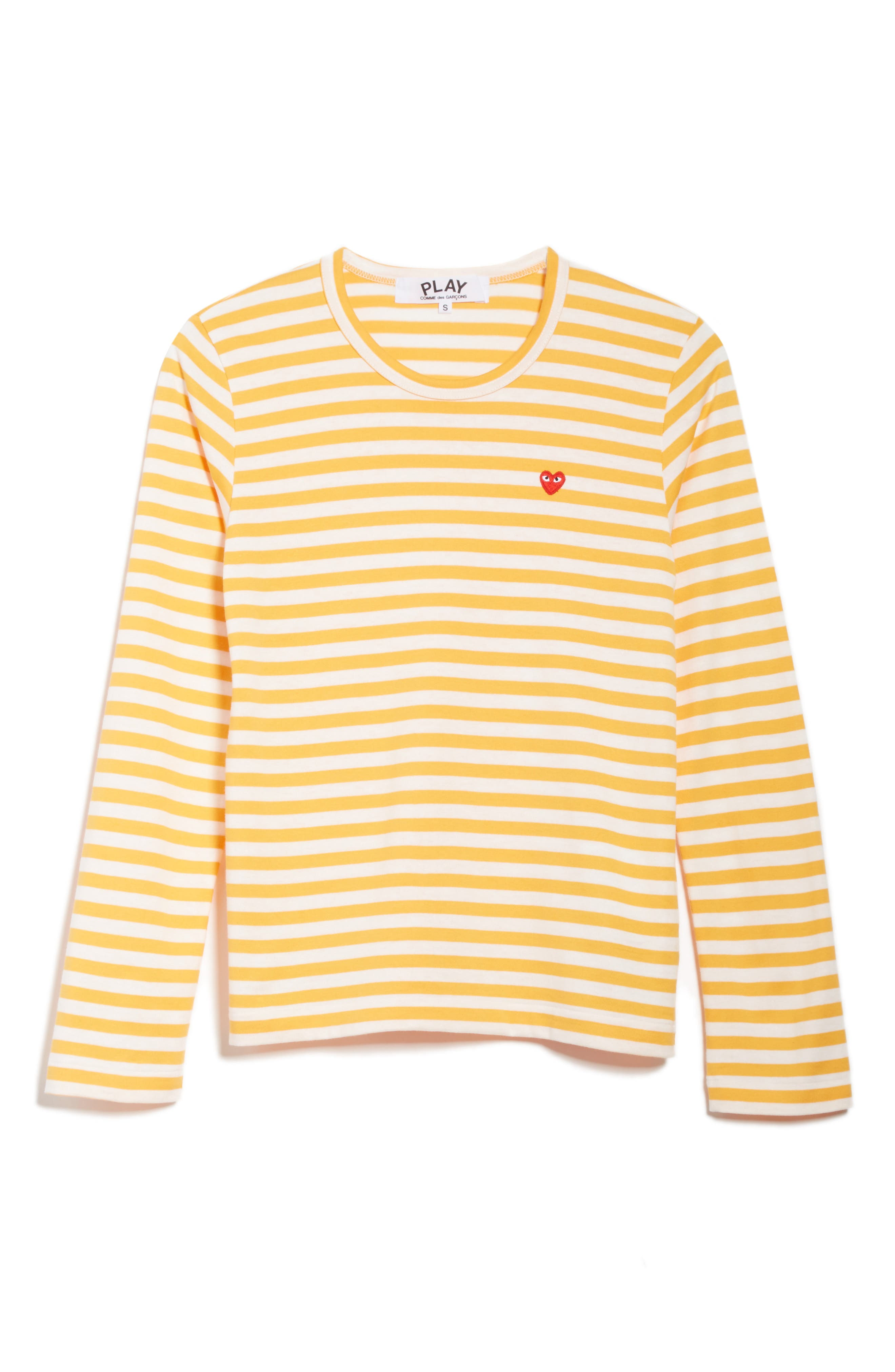 Alternate Image 6  - Comme des Garçons PLAY Stripe Cotton Tee