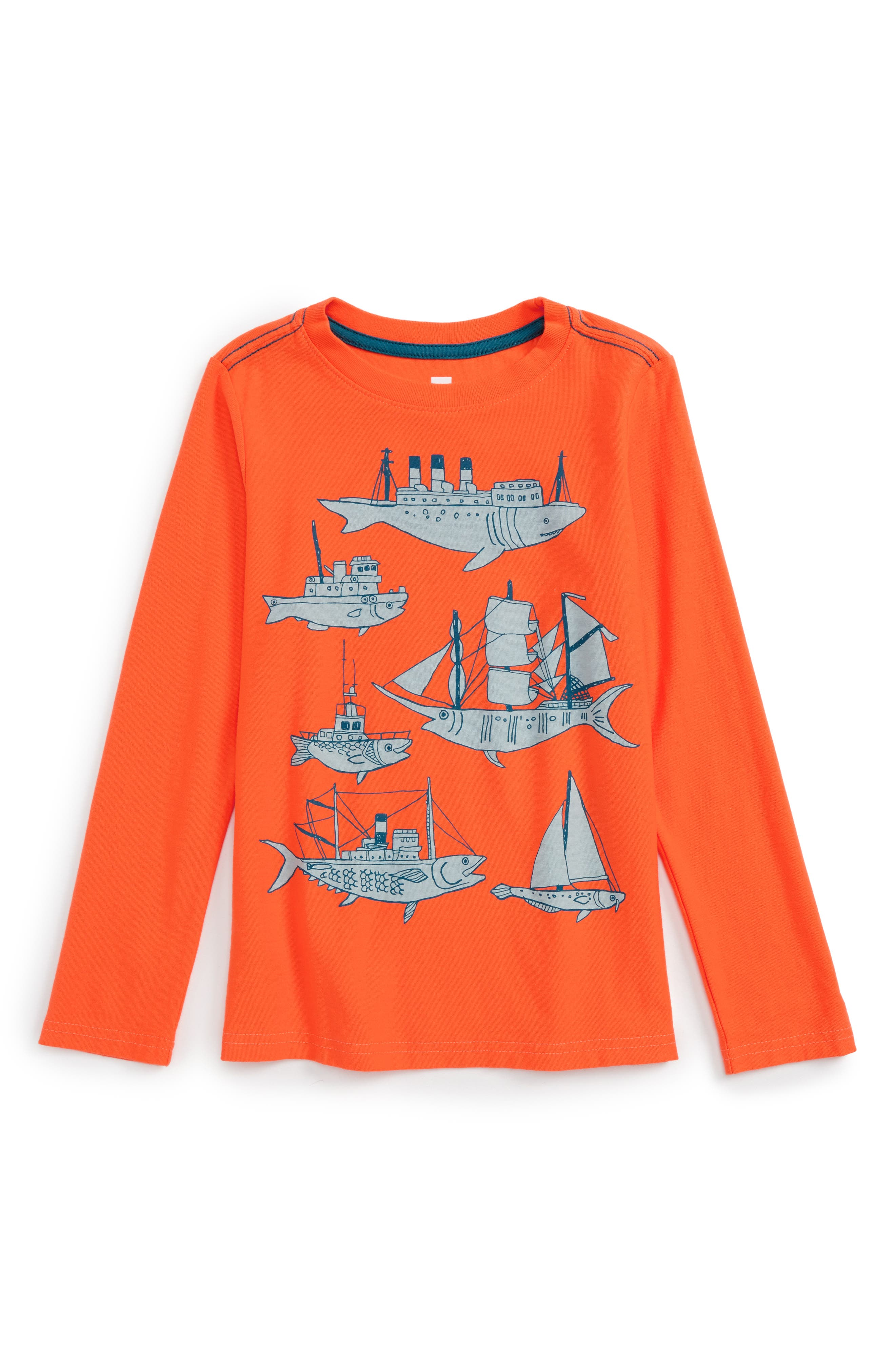 Tea Collection Fish & Ships Graphic T-Shirt (Toddler Boys & Little Boys)