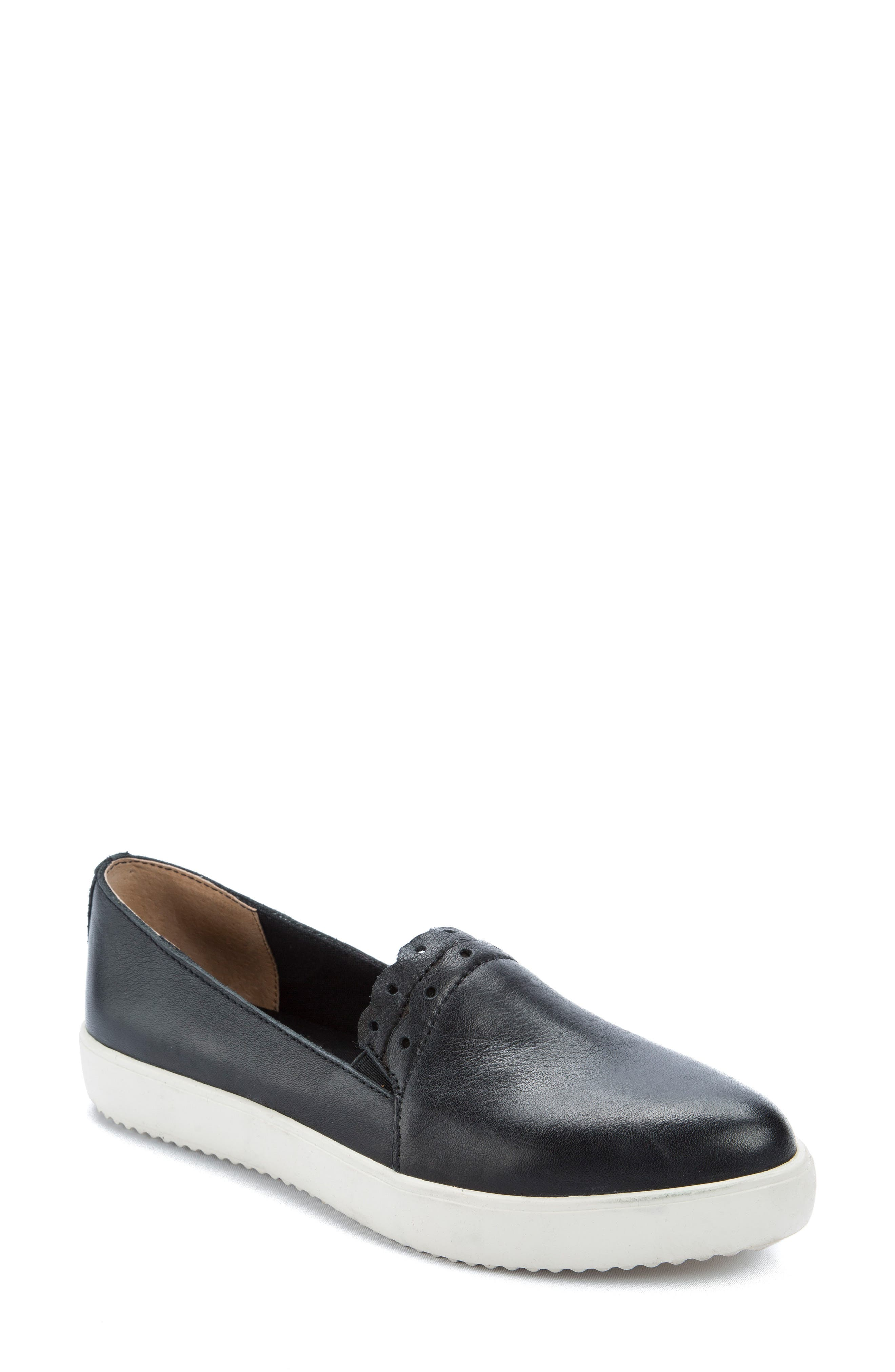 Roe Slip-On Sneaker,                             Main thumbnail 1, color,                             Black