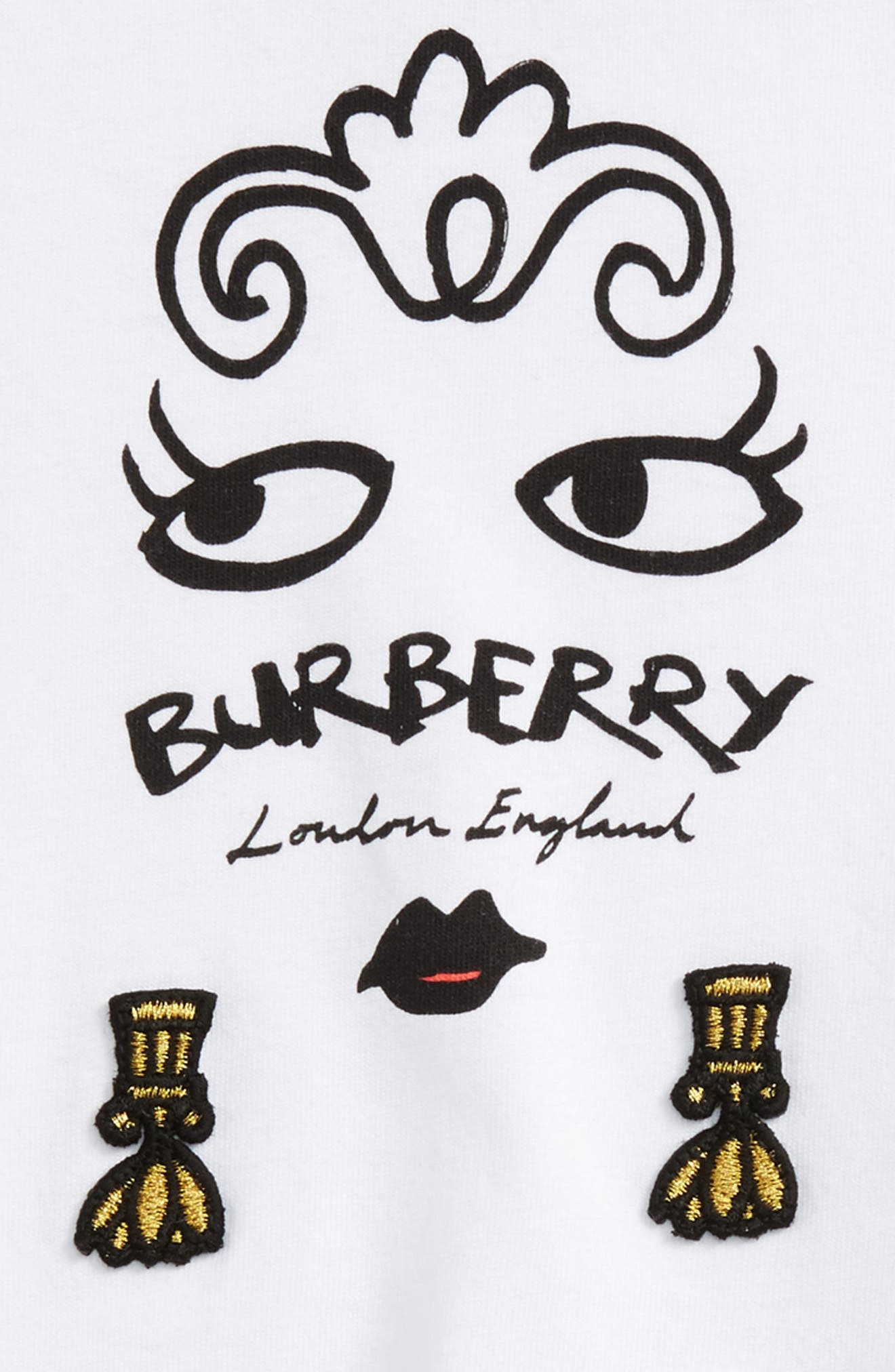 Alternate Image 2  - Burberry Fiona Graphic Tee (Baby Girls)