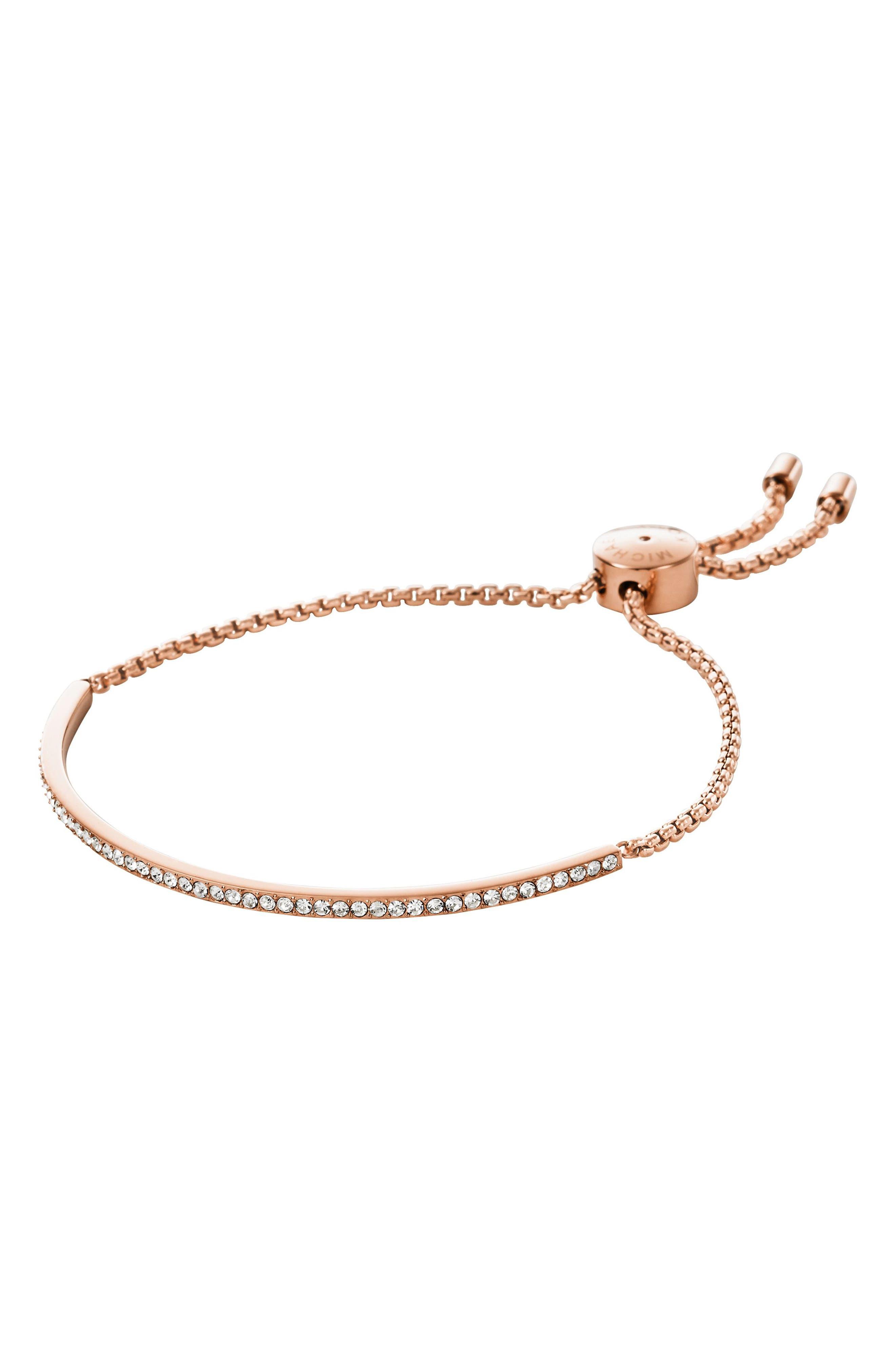 Main Image - Michael Kors Crystal Skinny Bracelet