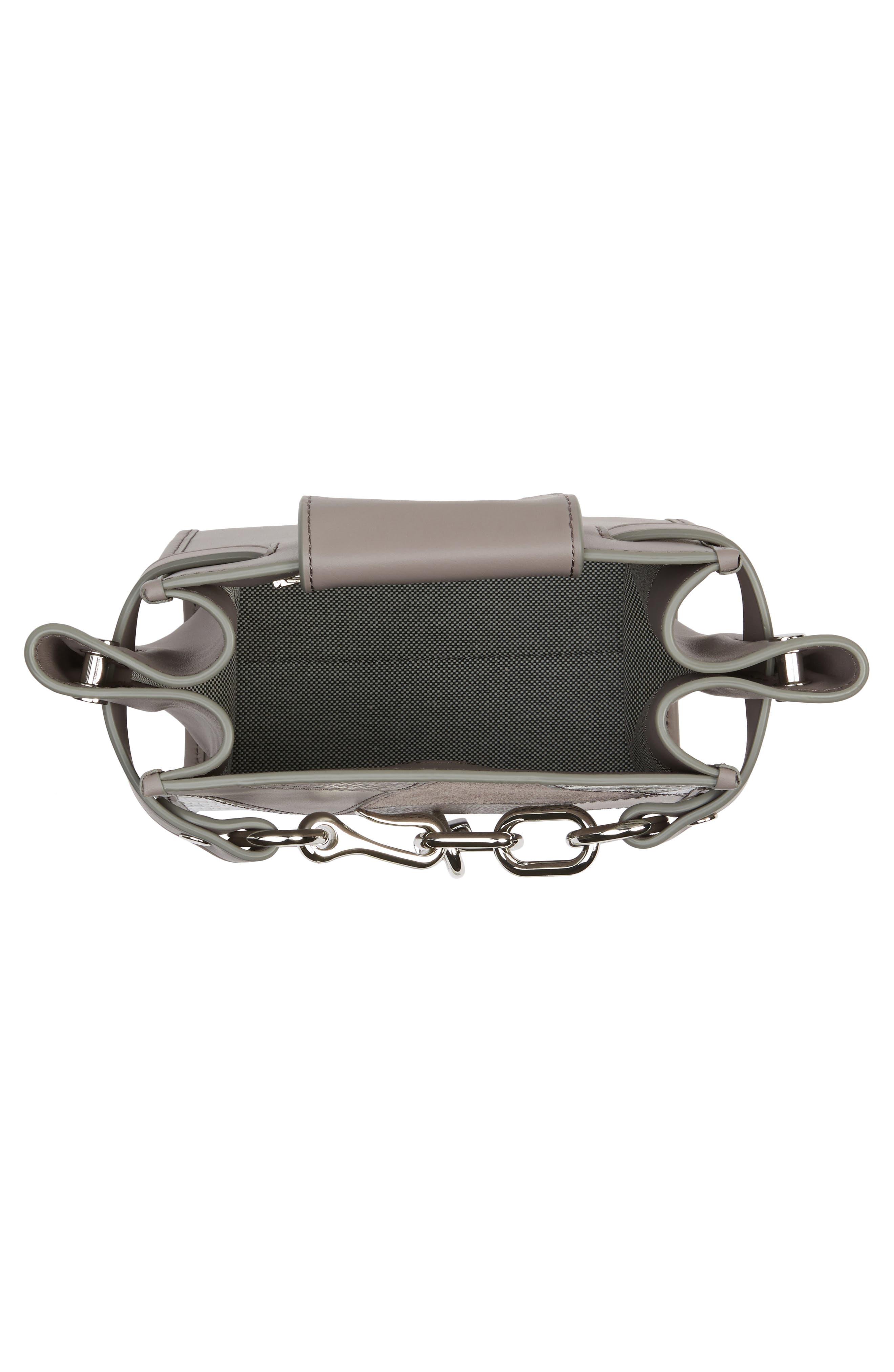 Mini Attica Patchwork Leather Satchel,                             Alternate thumbnail 4, color,                             Grey Multi