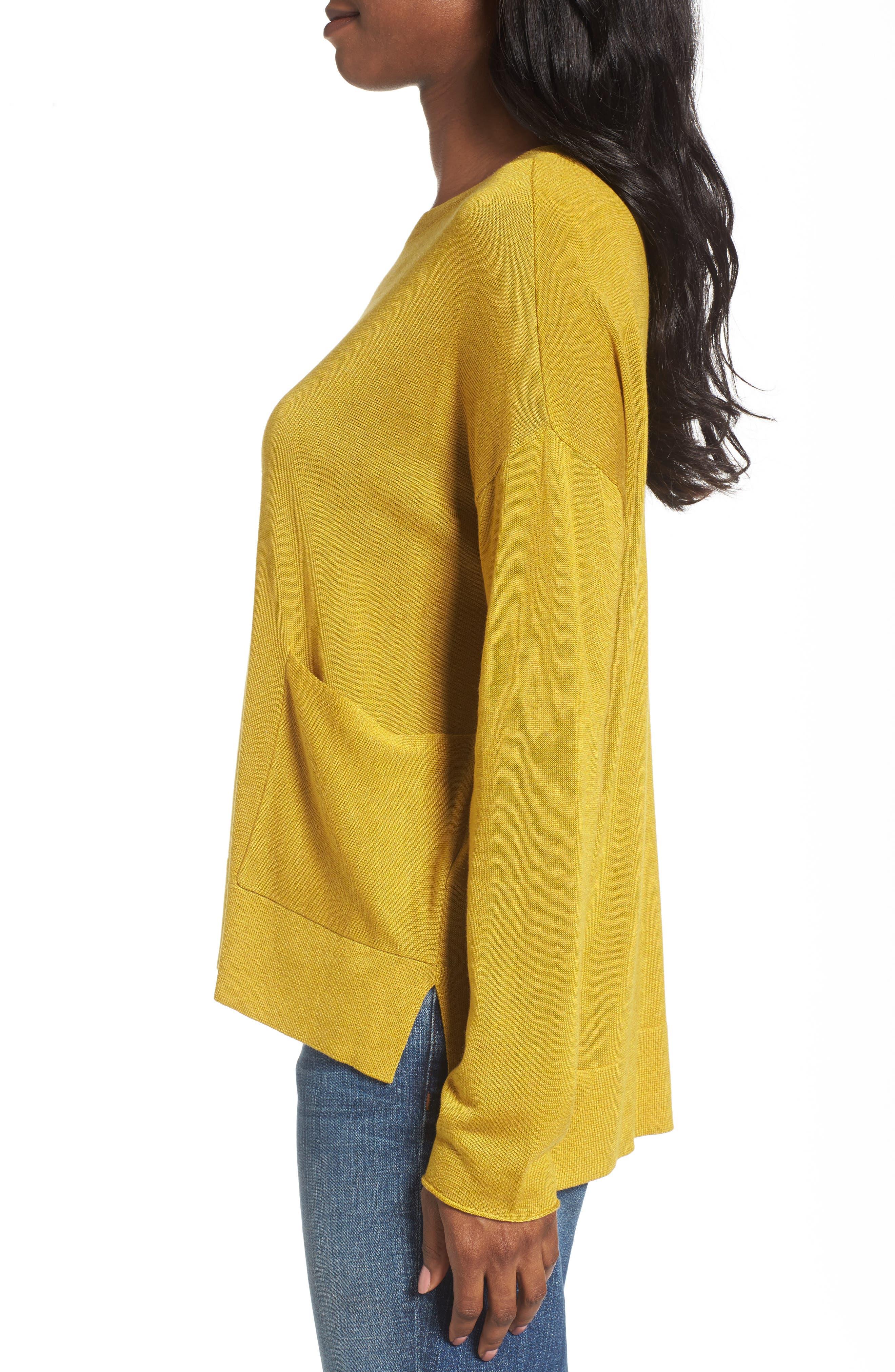Alternate Image 3  - Eileen Fisher Tencel® Blend Sweater