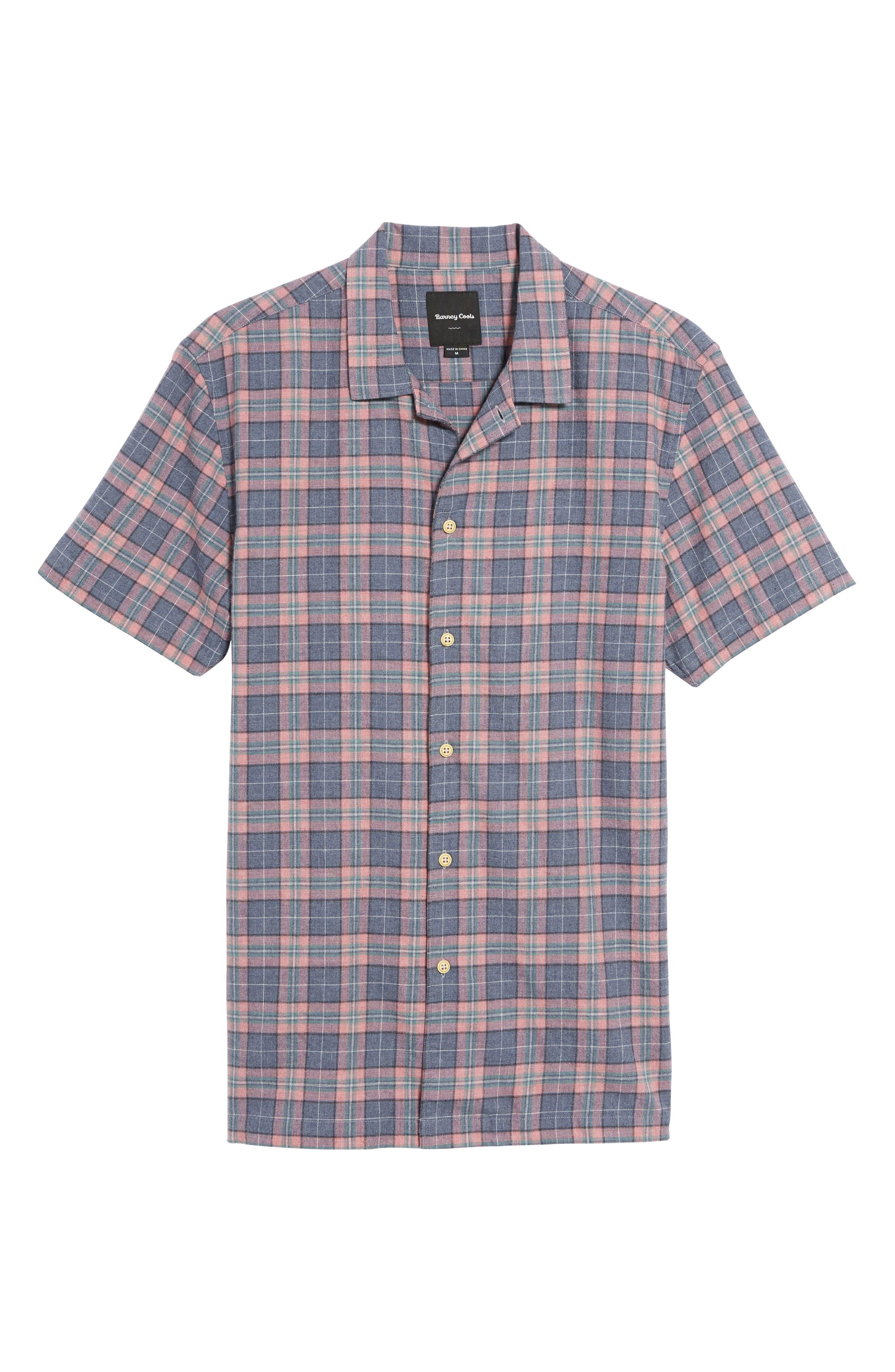 Alternate Image 6  - Barney Cools Florida Short Sleeve Plaid Shirt