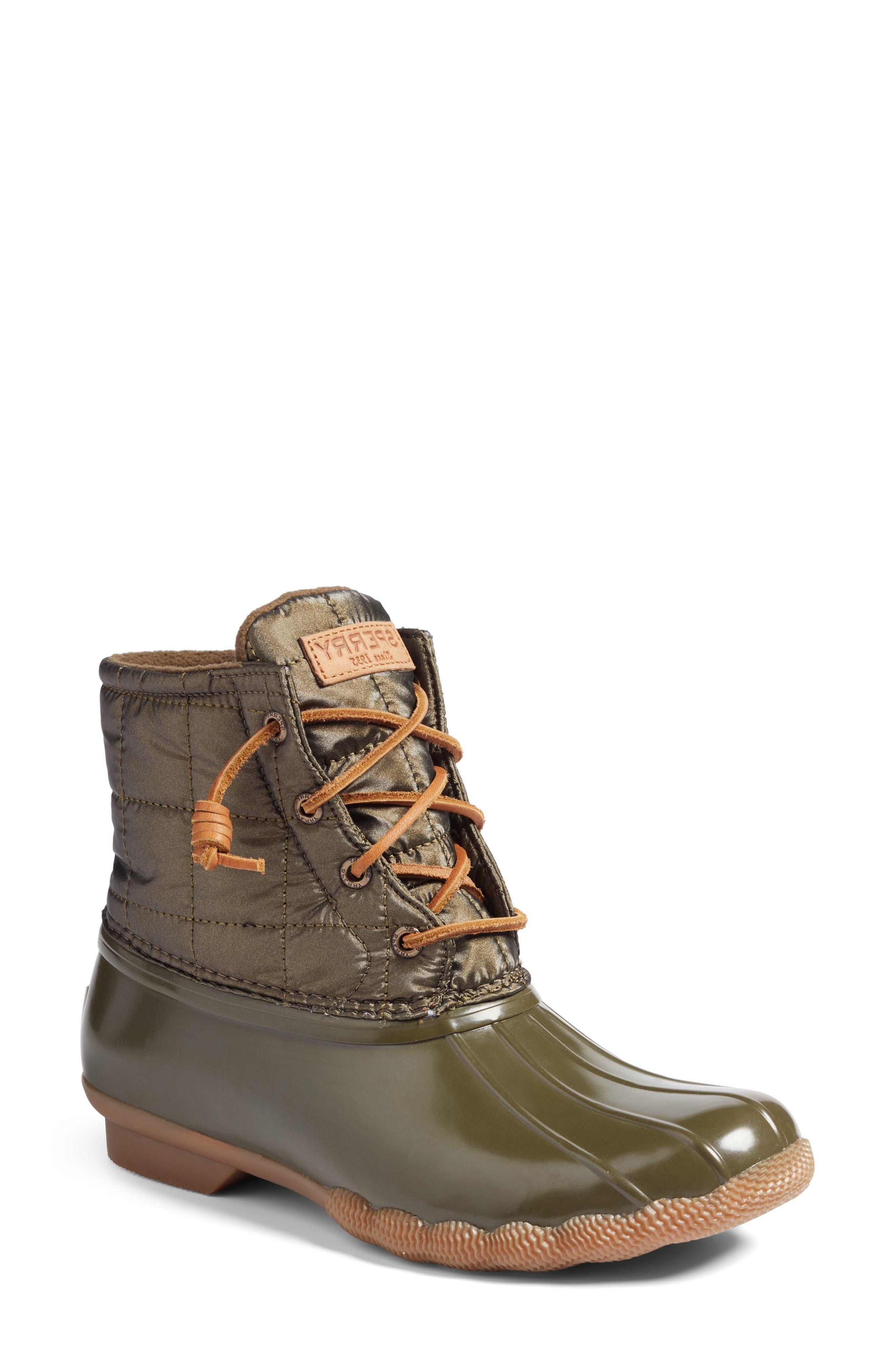 Sperry 'Saltwater' Waterproof Rain Boot (Women)