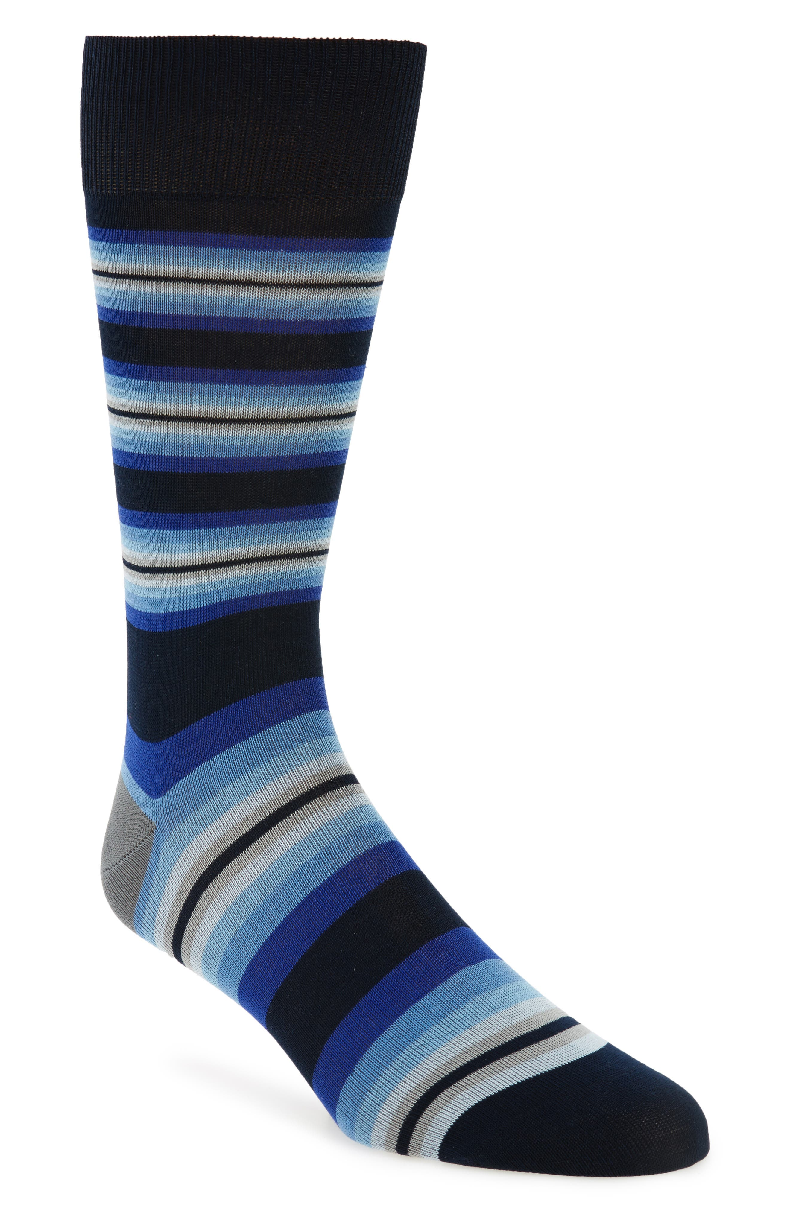 Tiger Stripe Socks,                             Main thumbnail 1, color,                             Blue/ Dark Blue