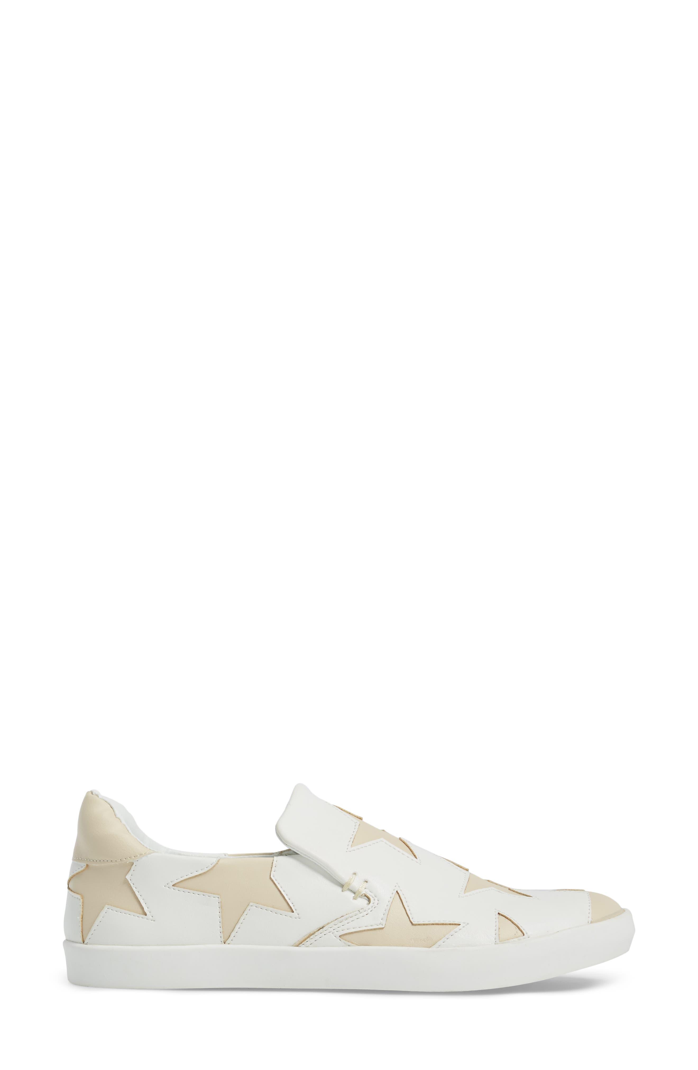 Highlight Slip-On Star Sneaker,                             Alternate thumbnail 3, color,                             White
