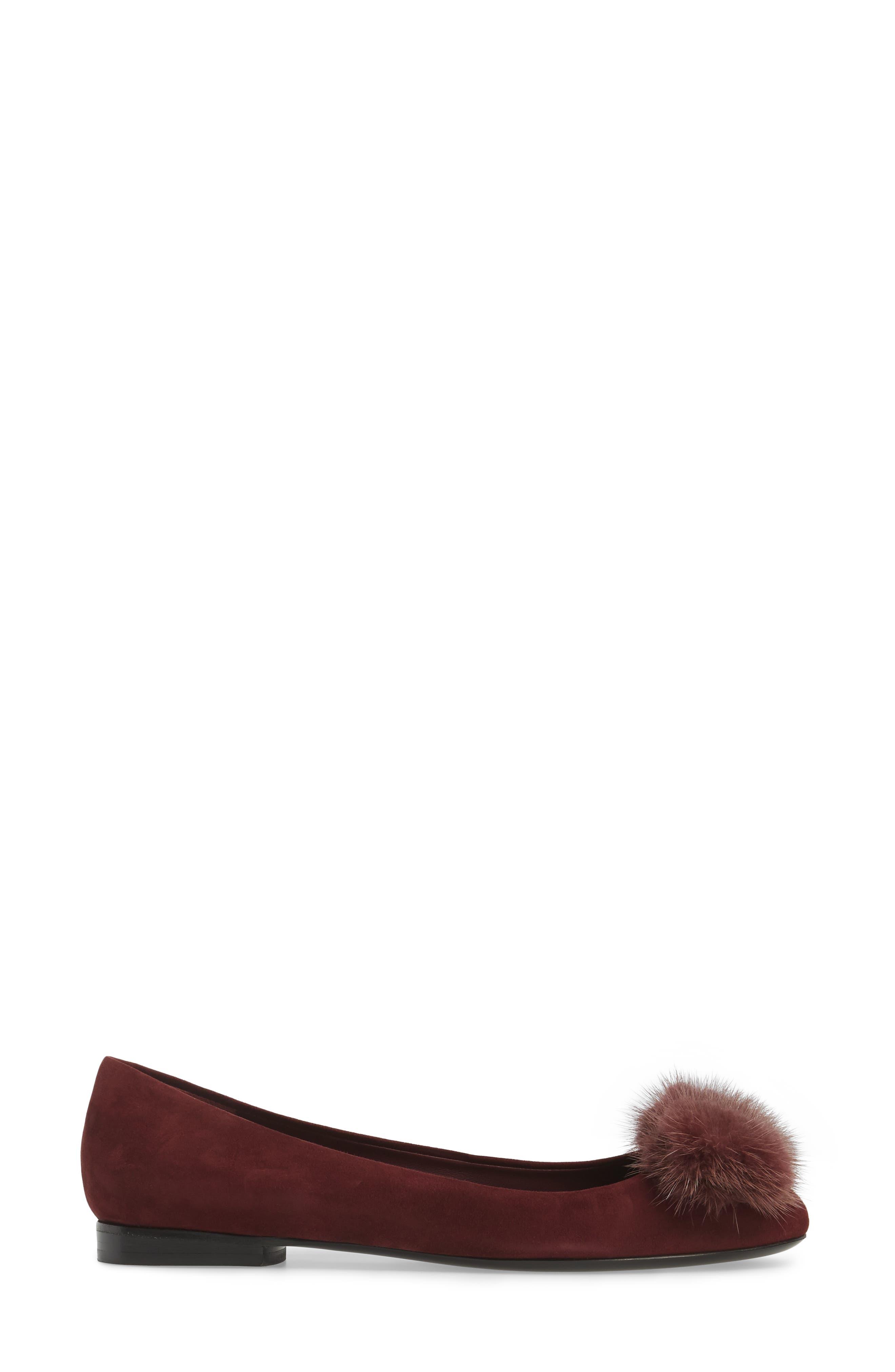 Alternate Image 3  - Salvatore Ferragamo Genuine Mink Fur Flat (Women)
