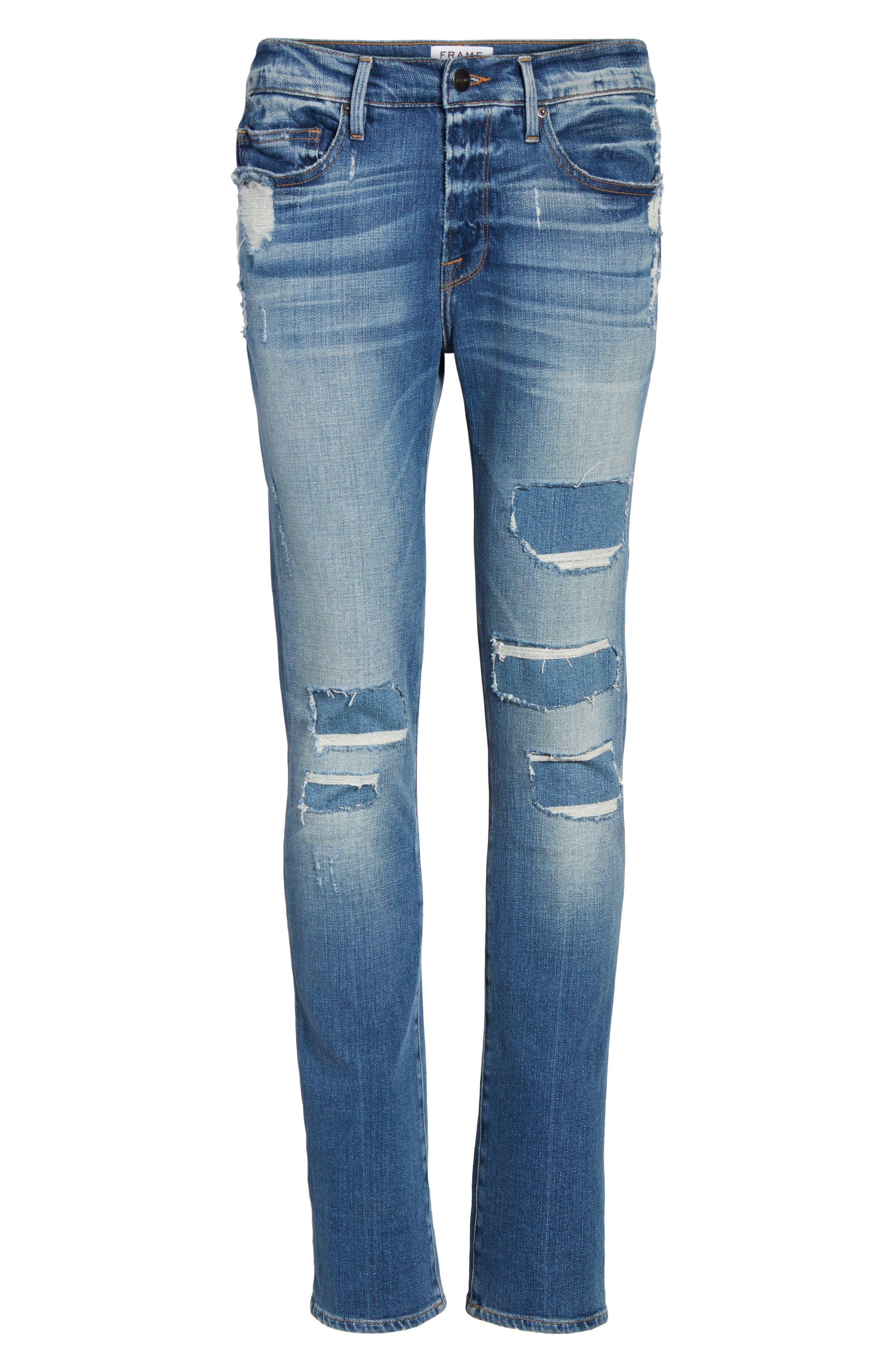 Alternate Image 6  - FRAME L'Homme Skinny Jeans (Frazier)