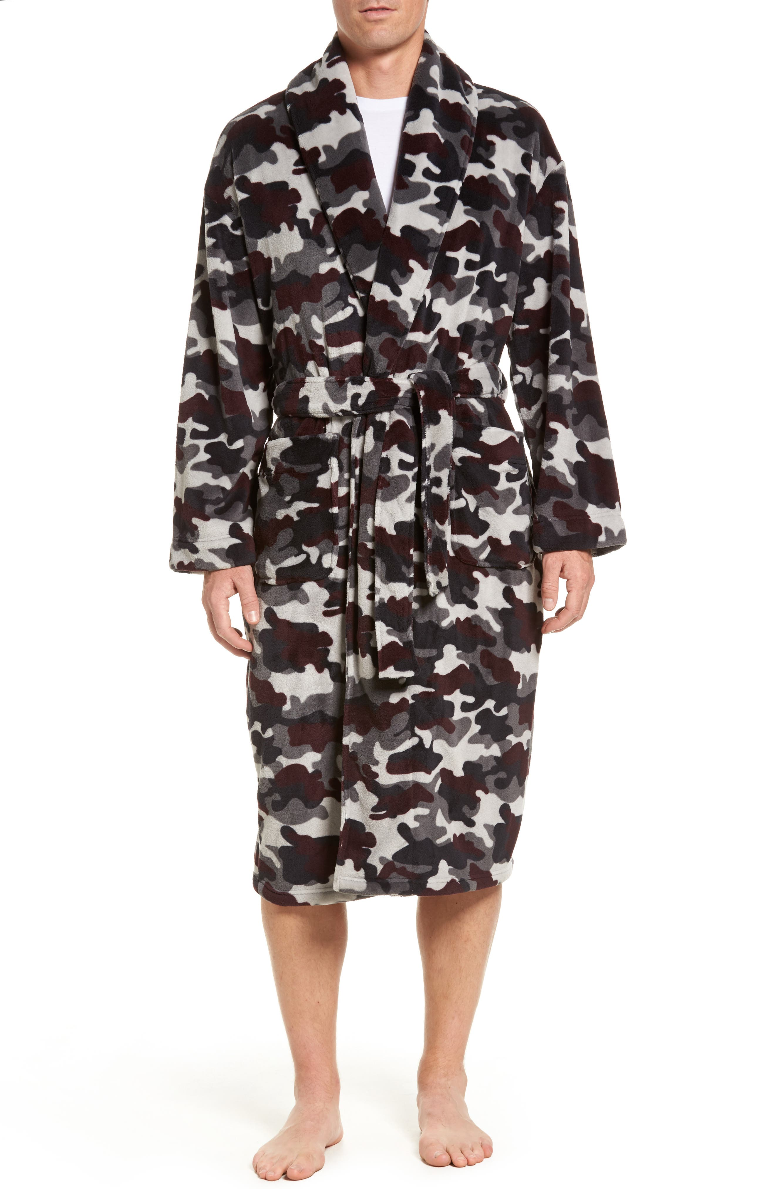 Cold Conquest Robe,                         Main,                         color, Charcoal Camo