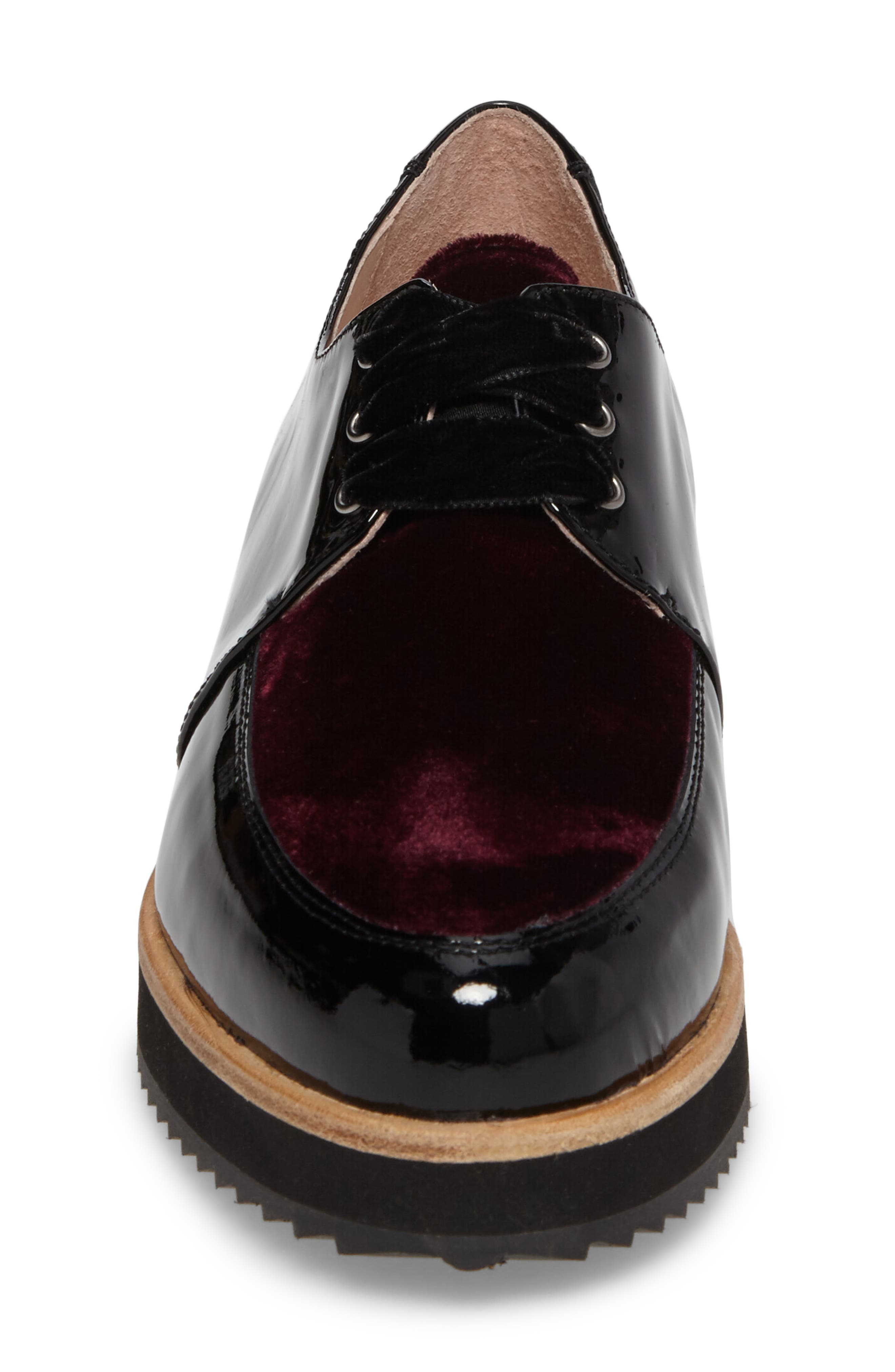 Reese Platform Oxford,                             Alternate thumbnail 4, color,                             Burgundy Patent