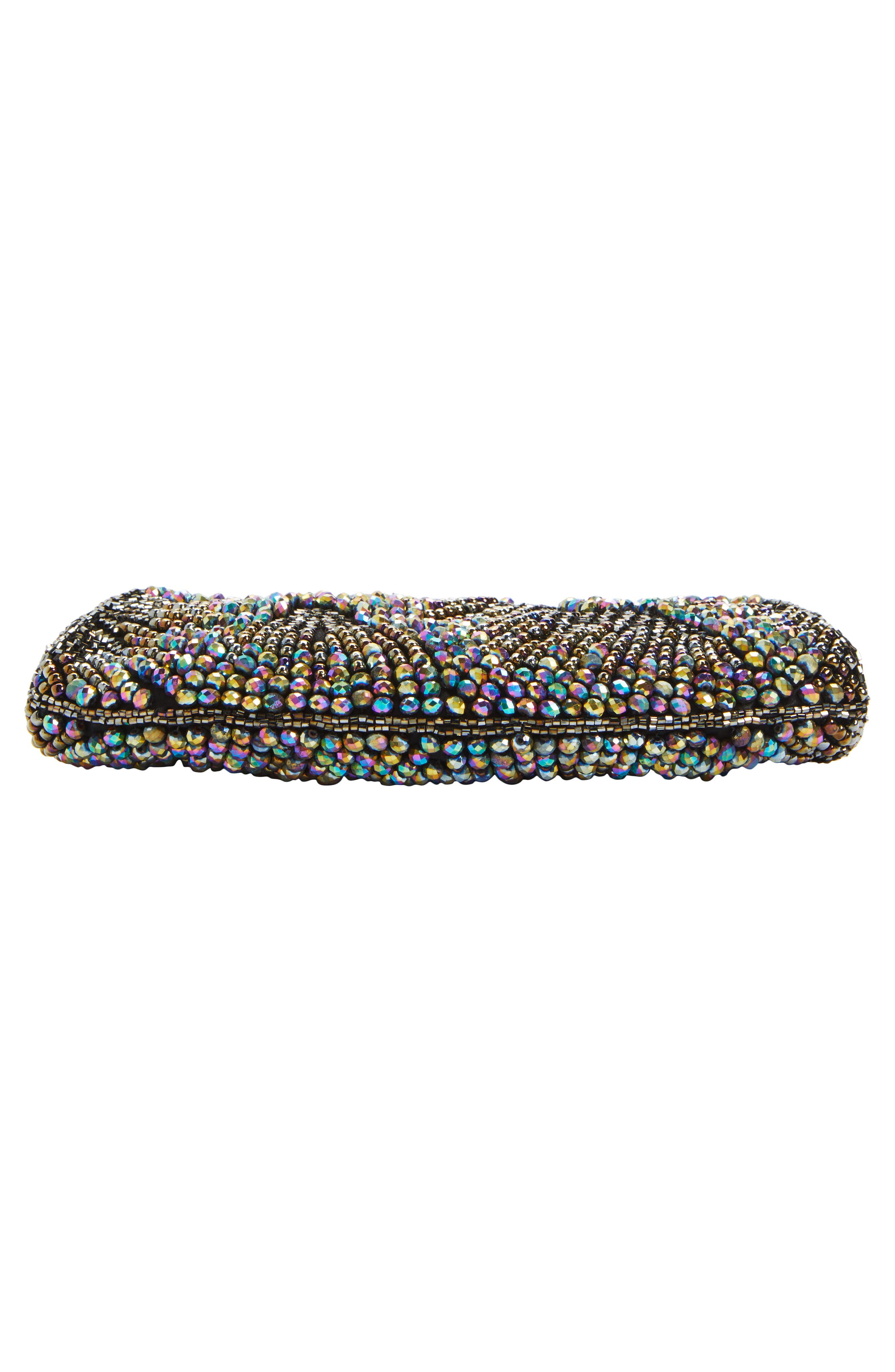 Alternate Image 6  - Nordstrom Faceted Fan Beaded Evening Clutch