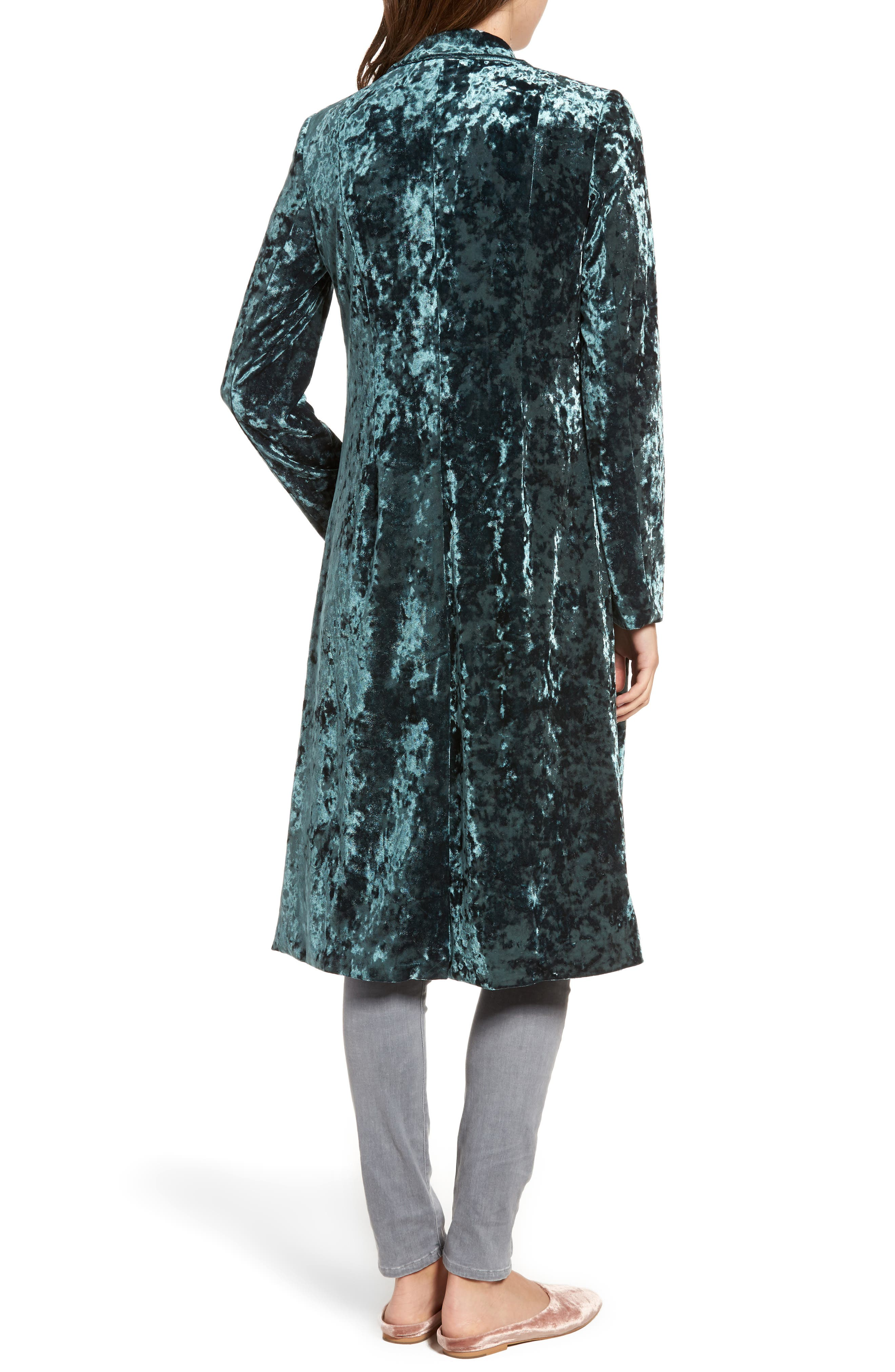 Alternate Image 2  - Leith Long Velour Jacket