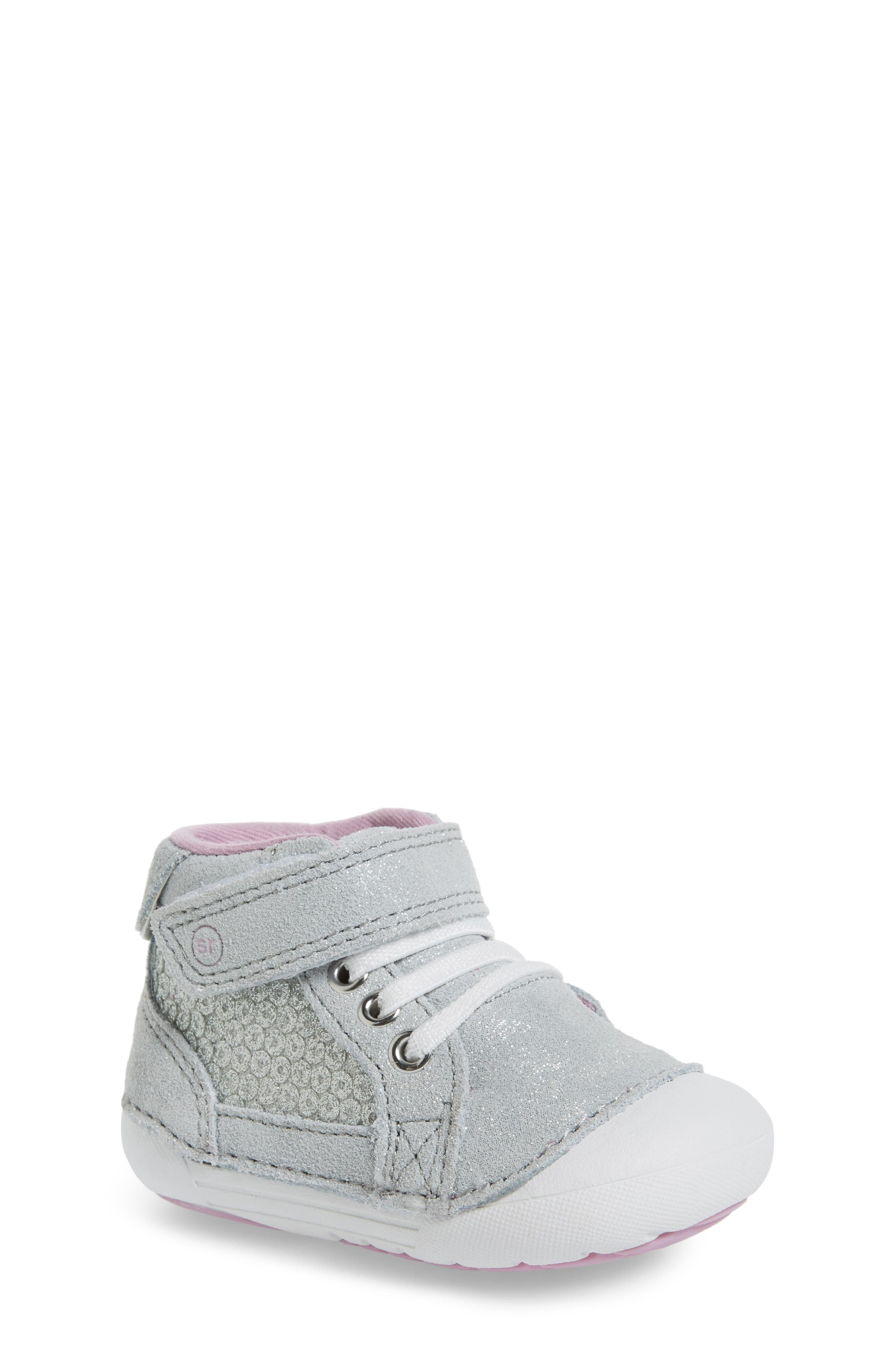 Soft Motion<sup>™</sup> Jada High Top Sneaker,                             Main thumbnail 1, color,                             Silver Metallic