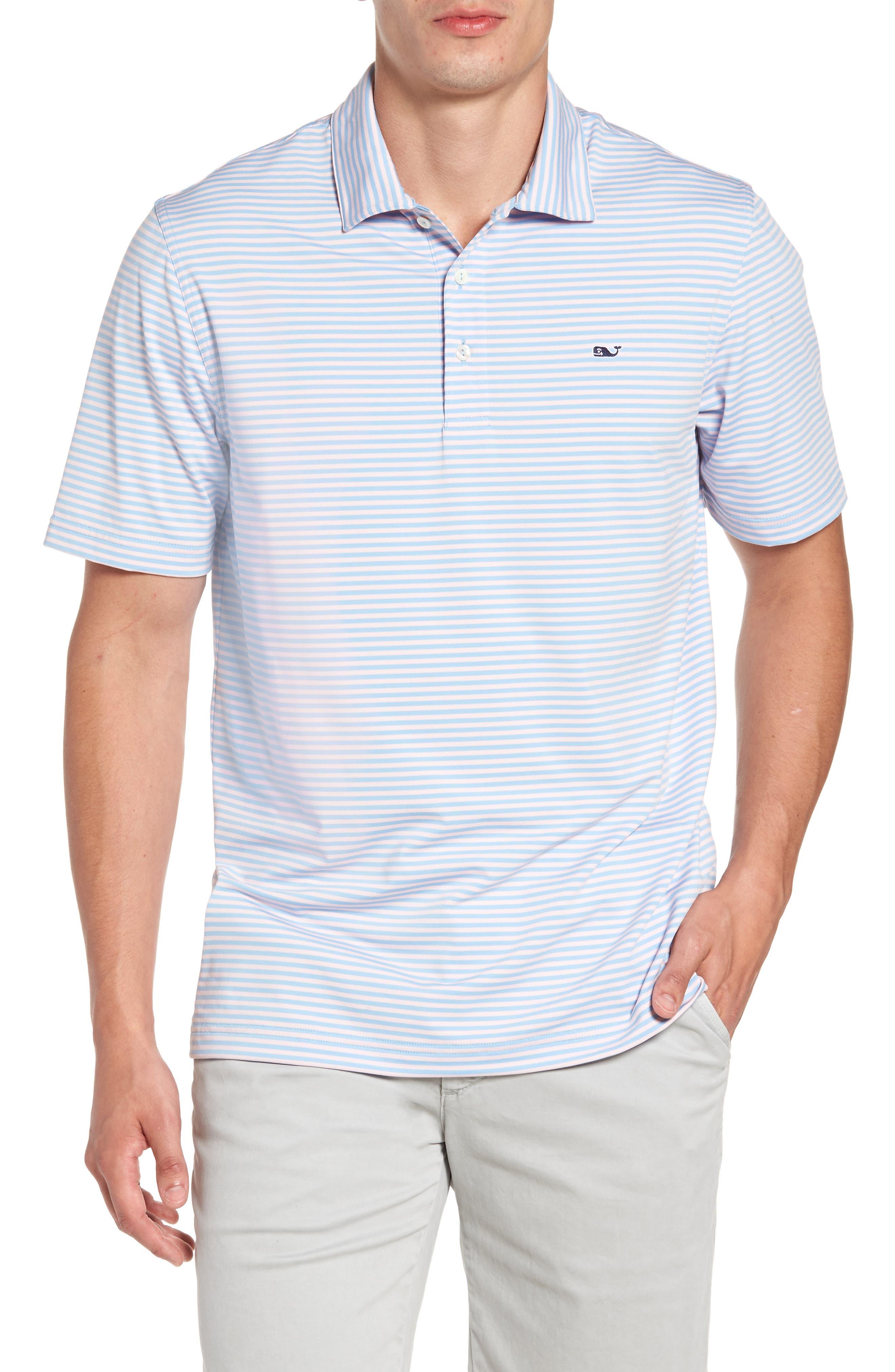 Vineyard Vines 'Kennedy' Stripe Golf Polo