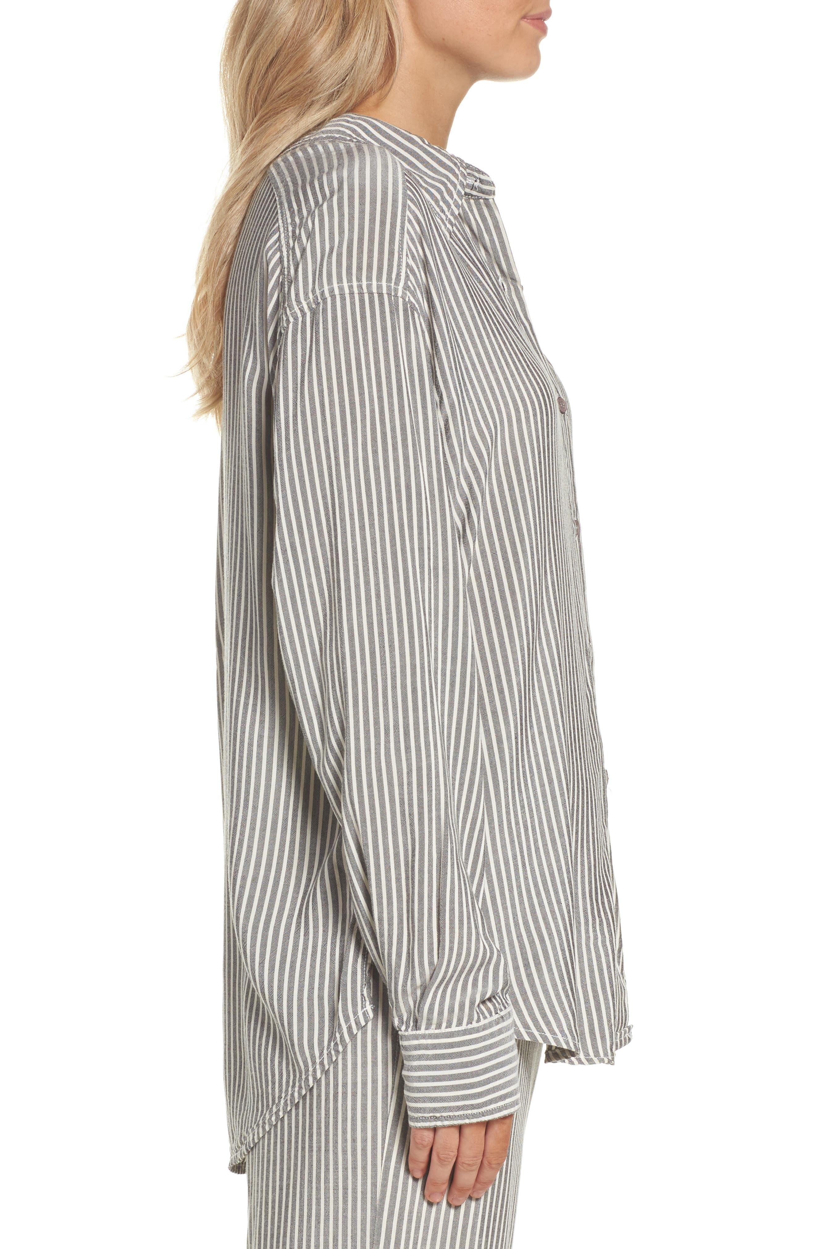 Stripe Top,                             Alternate thumbnail 3, color,                             Grey Stripe
