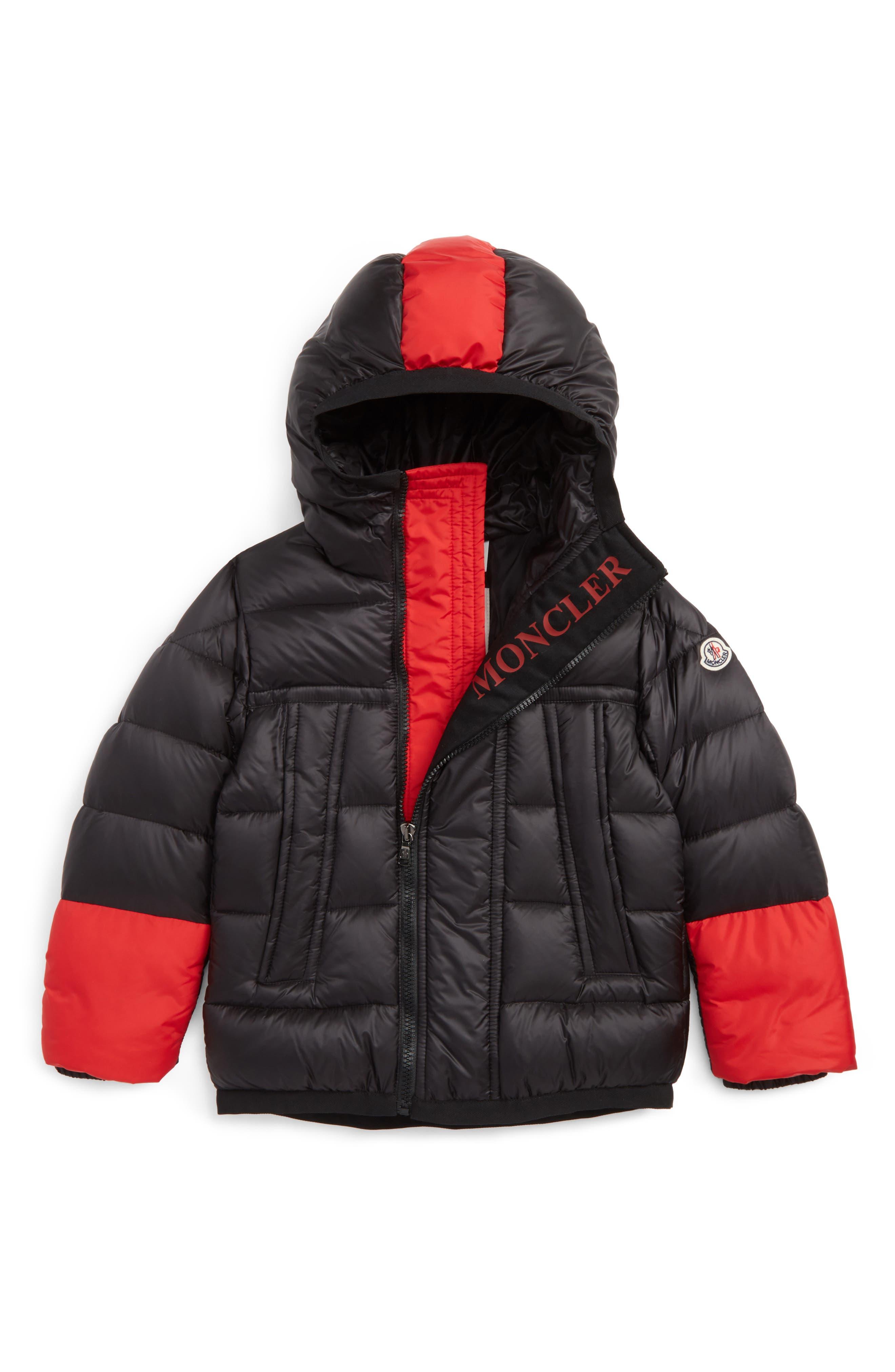 Main Image - Moncler Drake Hooded Down Coat (Toddler Boys, Little Boys & Big Boys)
