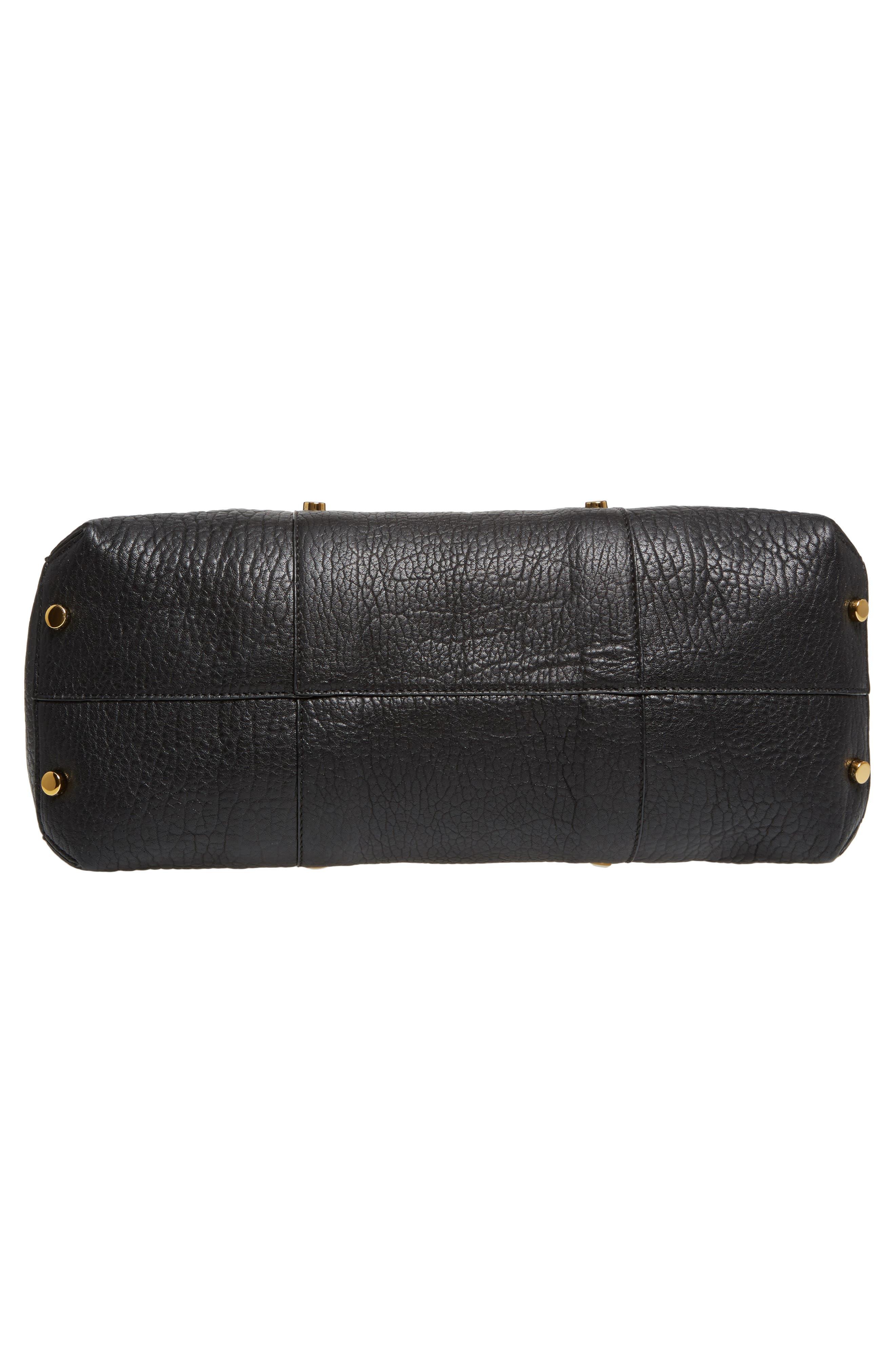 Lockett Leather Shopper,                             Alternate thumbnail 6, color,                             Black