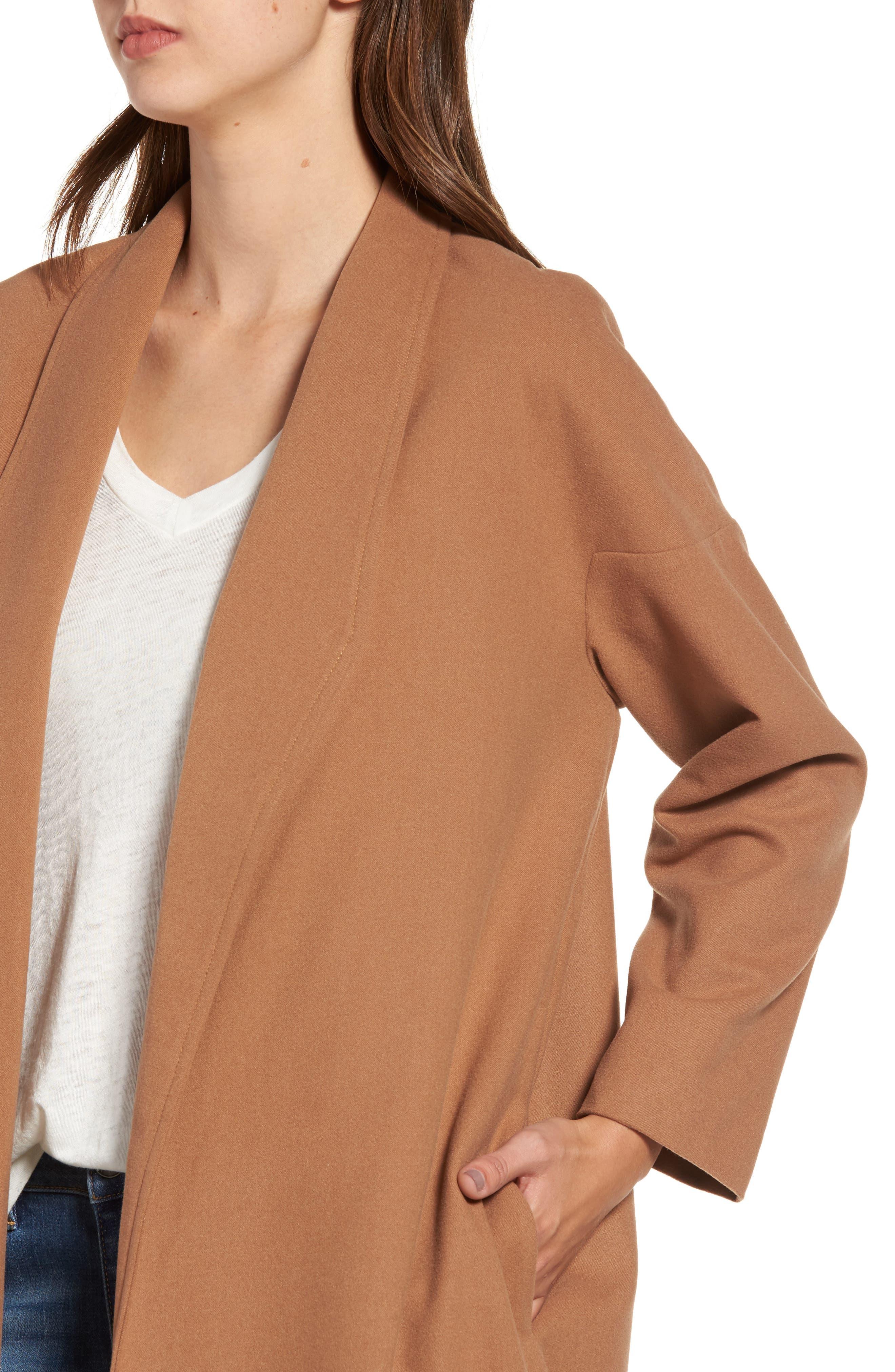Perfect Midi Coat,                             Alternate thumbnail 6, color,                             Camel