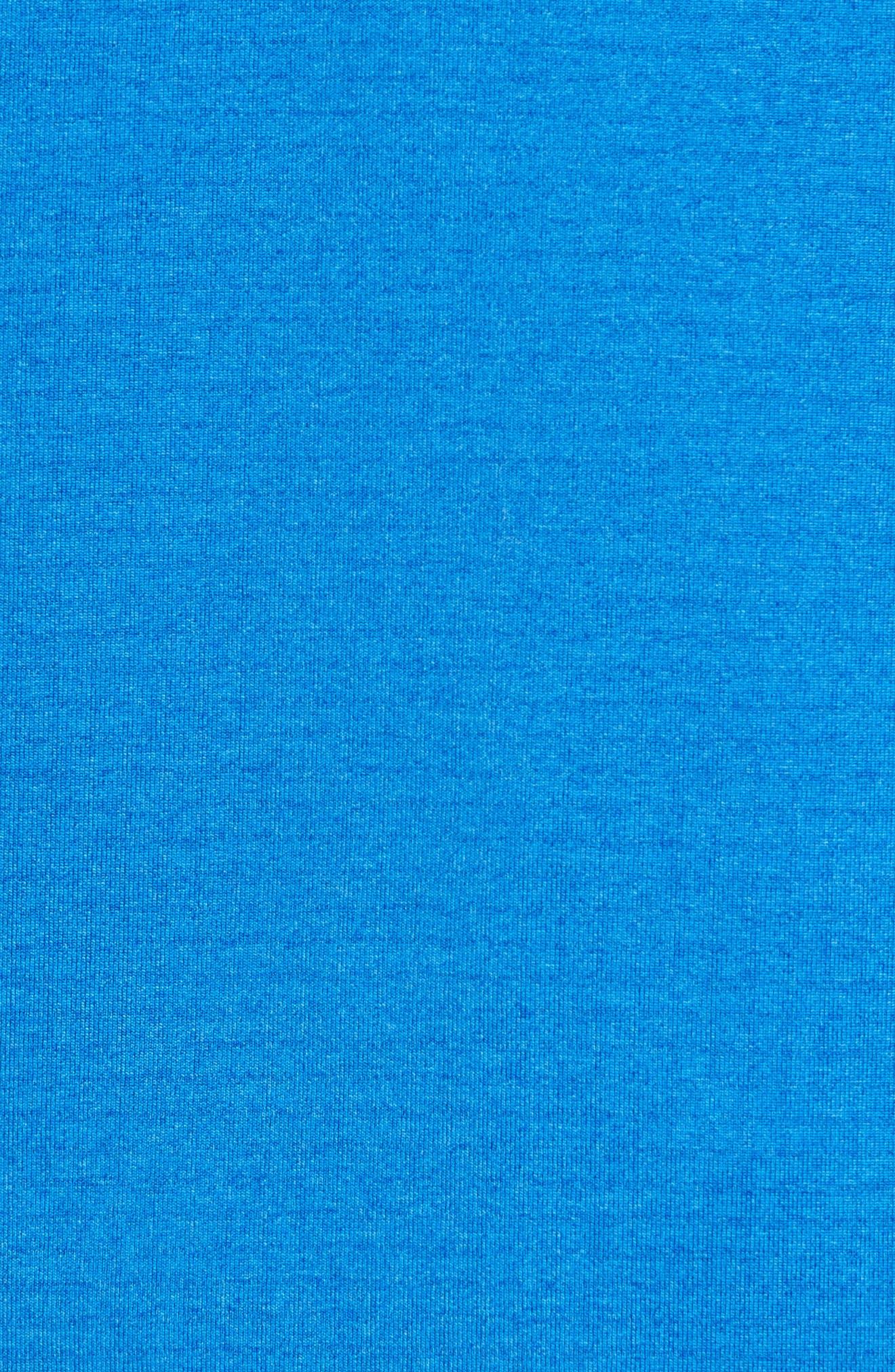 Grid Full Zip Fleece Hoodie,                             Alternate thumbnail 5, color,                             Regatta Blue