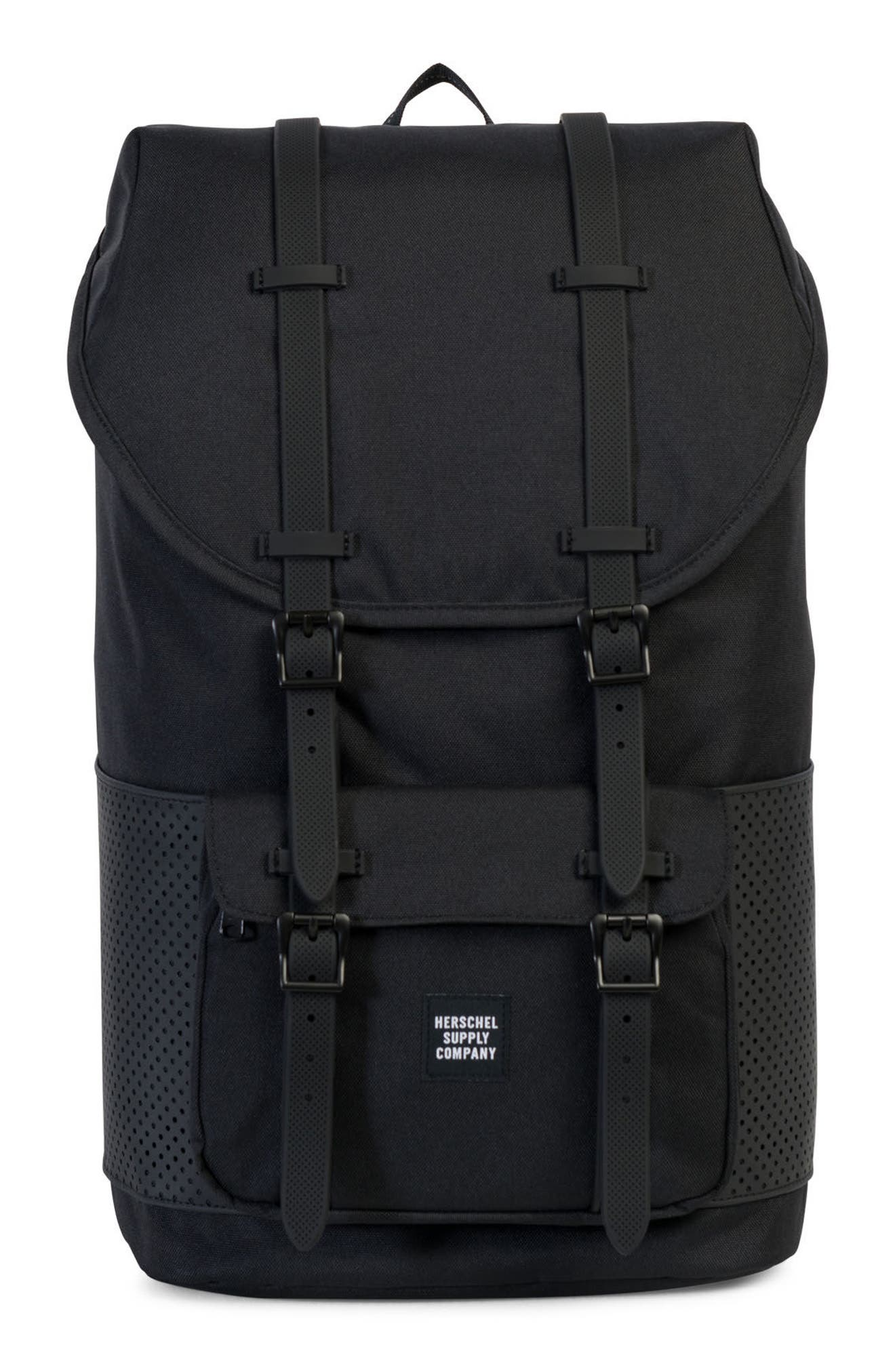 Little America Aspect Backpack,                         Main,                         color, Black Rubber