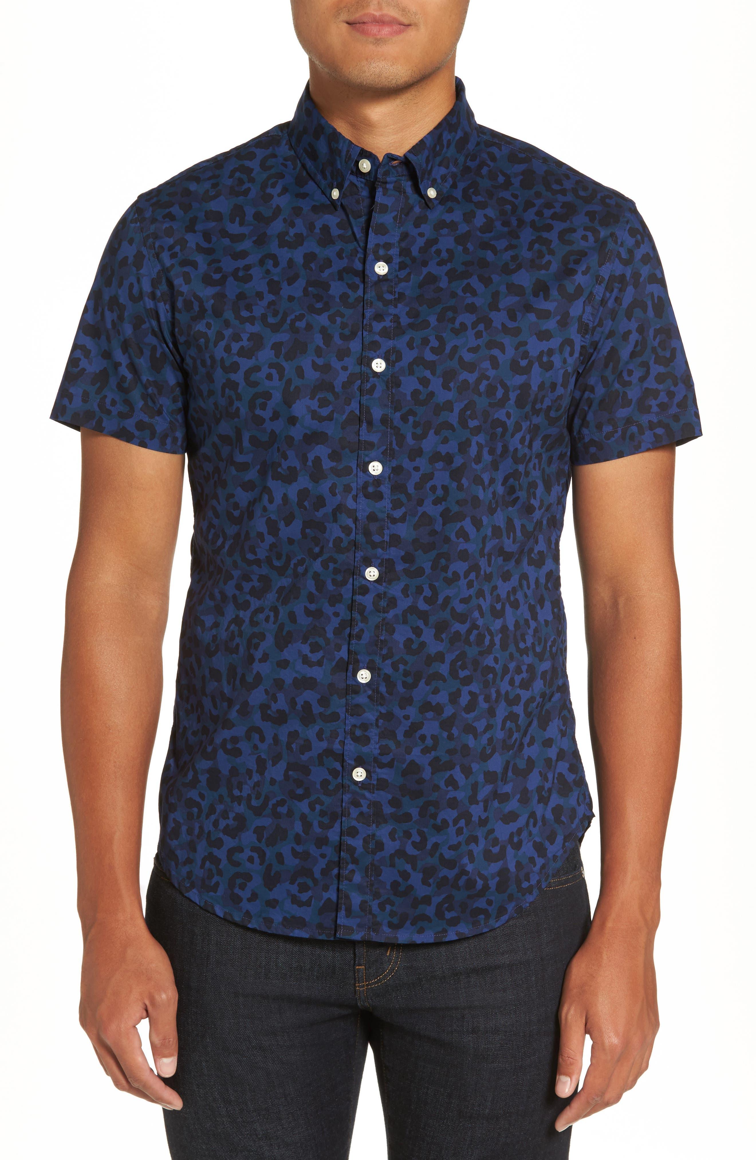 Bonobos Riviera Slim Fit Print Sport Shirt