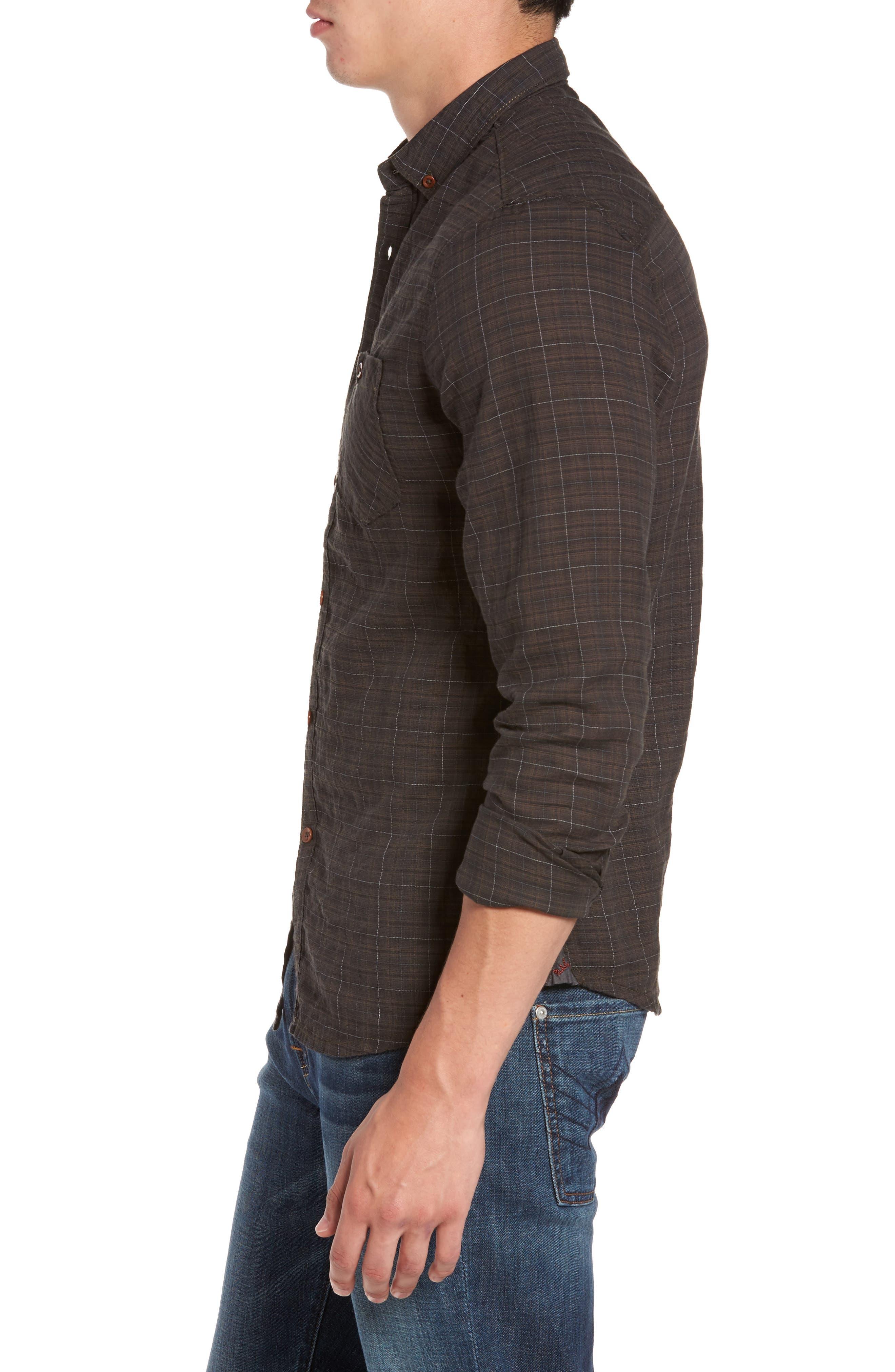 Alternate Image 3  - Jeremiah Molera Pucker Plaid Sport Shirt