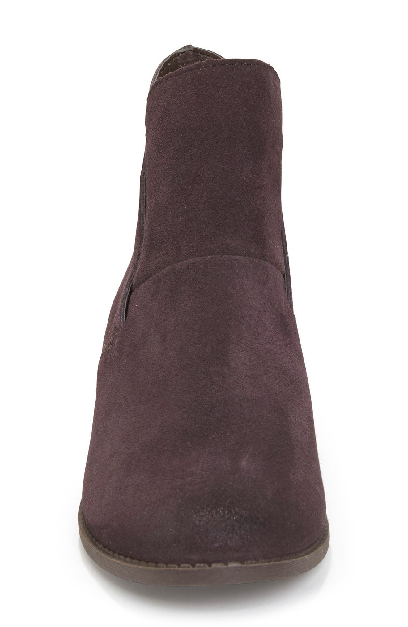 Zena Ankle Boot,                             Alternate thumbnail 4, color,                             Dark Ruby Suede