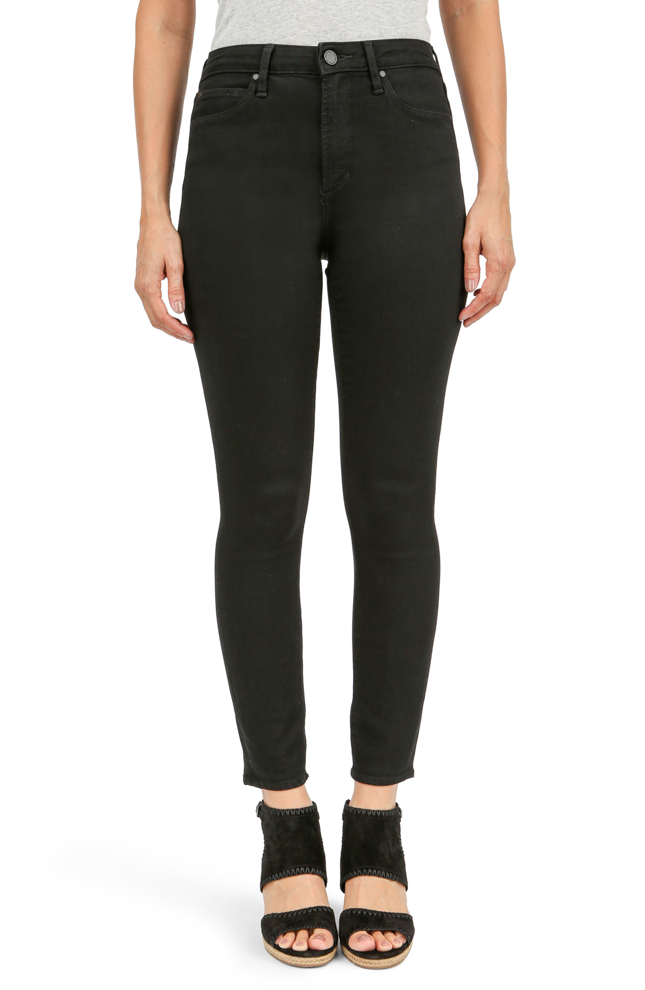 Heather High Waist Jeans,                         Main,                         color, Black