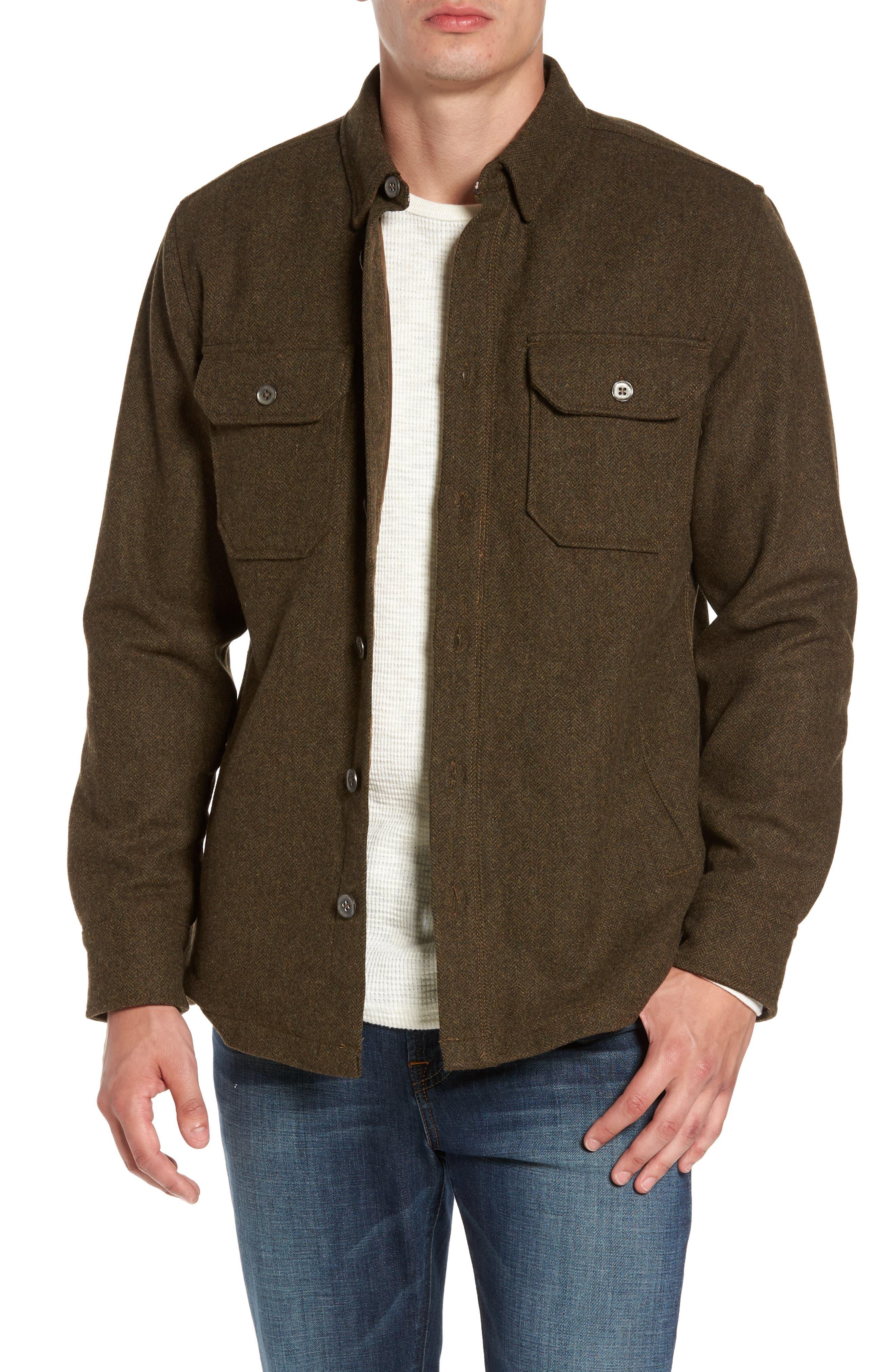 Jeremiah Creek Herringbone Wool Shirt Jacket