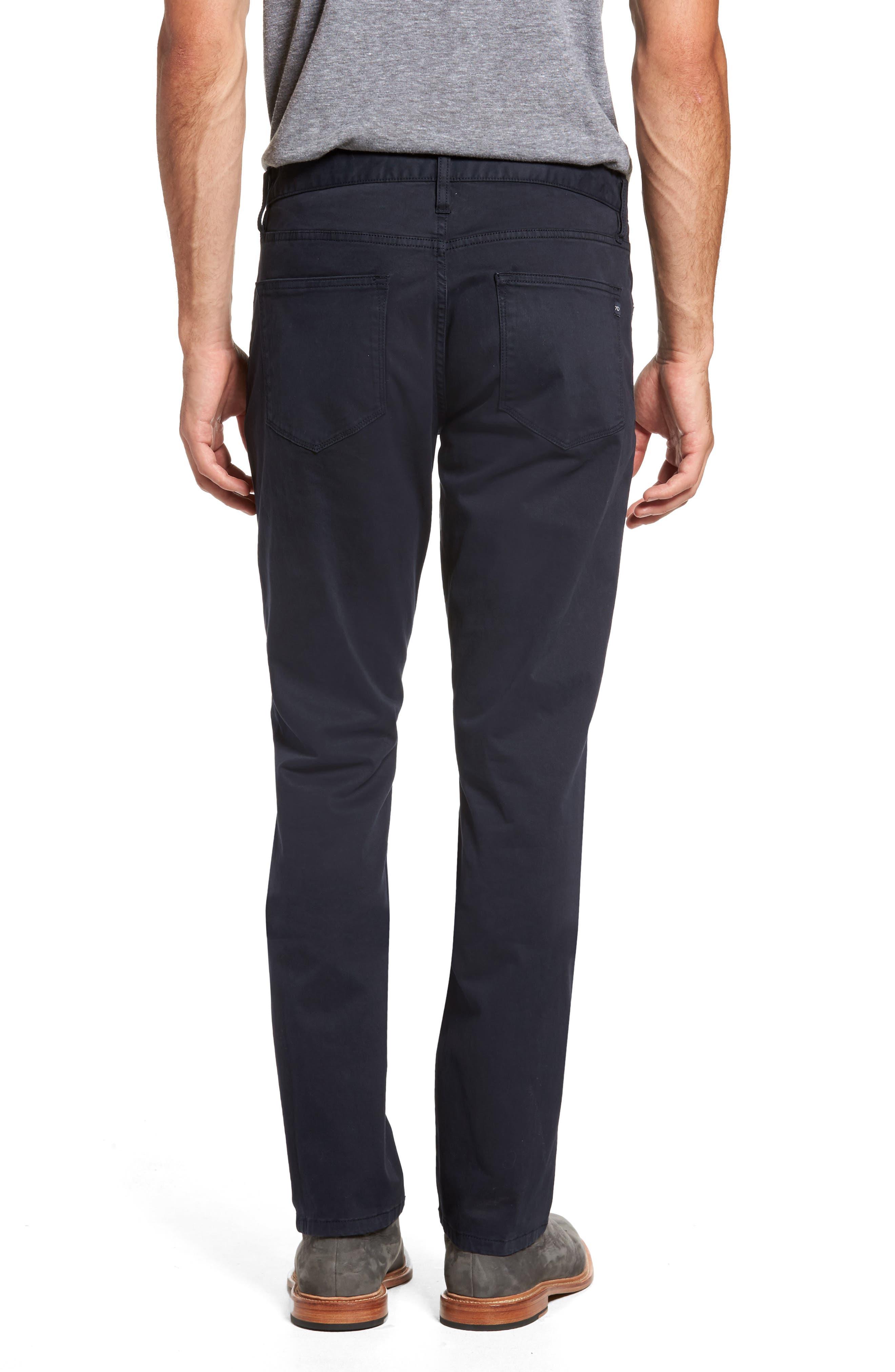 Brushed Twill Five-Pocket Pants,                             Alternate thumbnail 2, color,                             Navy