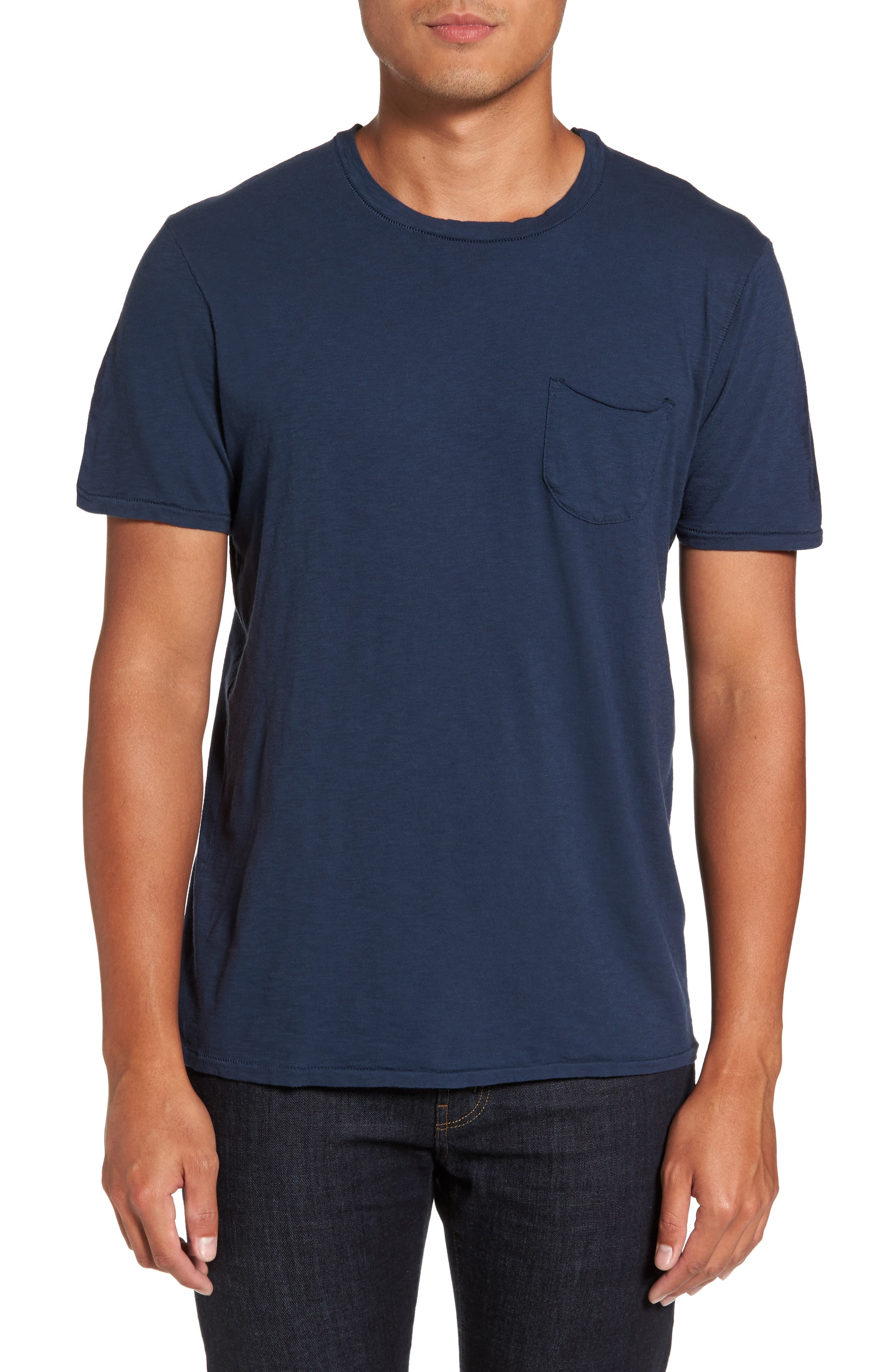 Chase Classic Crewneck T-Shirt,                         Main,                         color, Navy