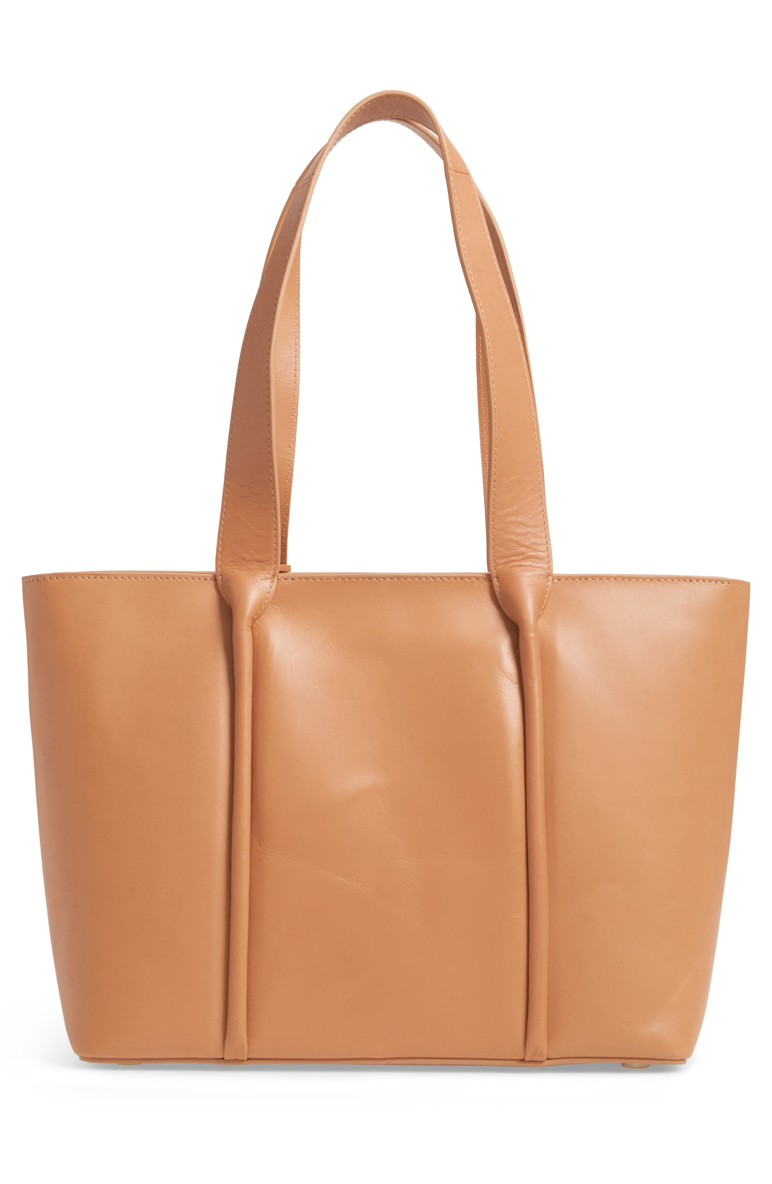Lisabet Leather Tote,                             Alternate thumbnail 3, color,                             Tan