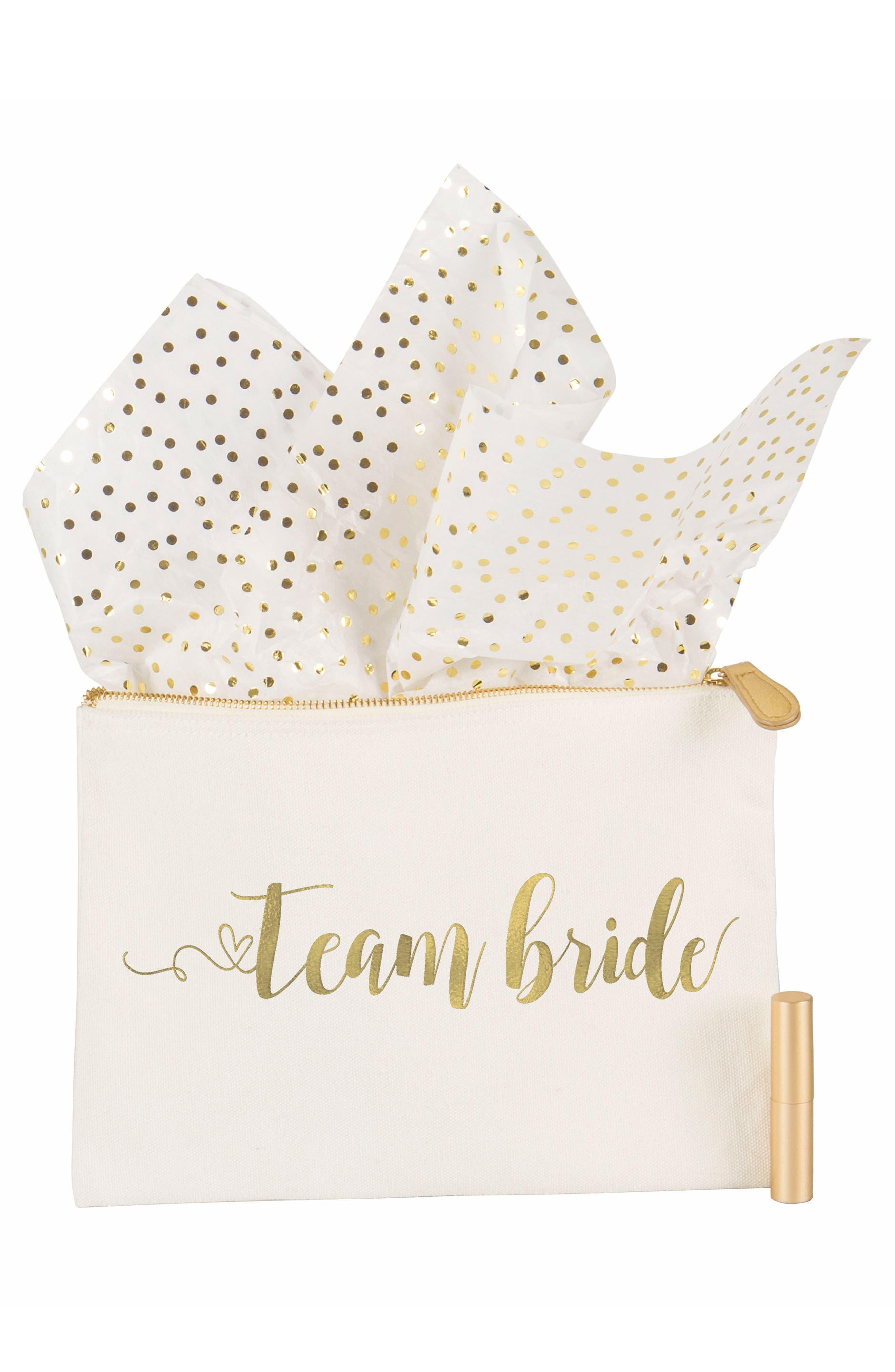Alternate Image 7  - Cathy's Concepts Team Bride Canvas Pouch