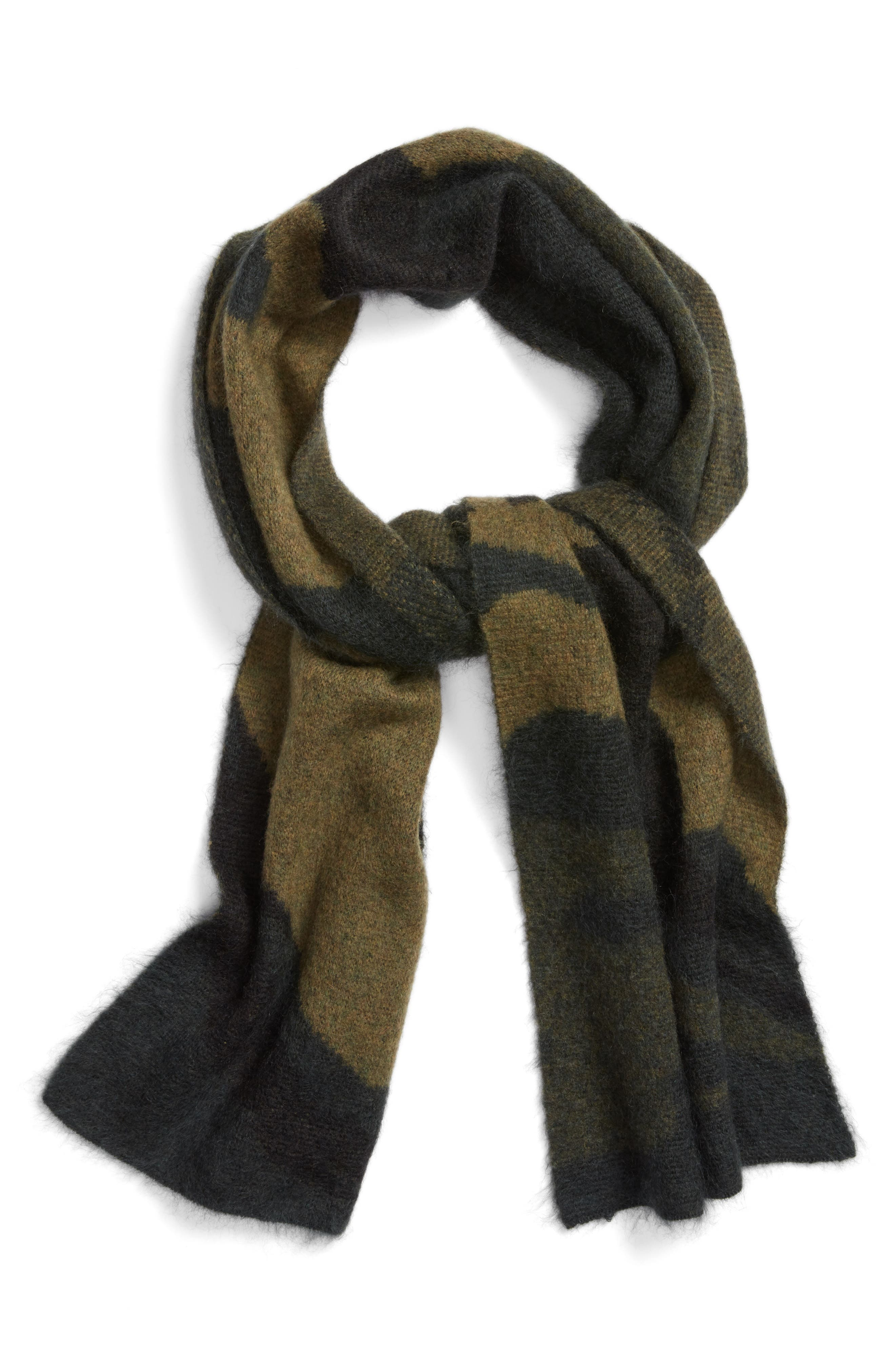 Alternate Image 3  - rag & bone Sinclair Camo Jacquard Knit Scarf
