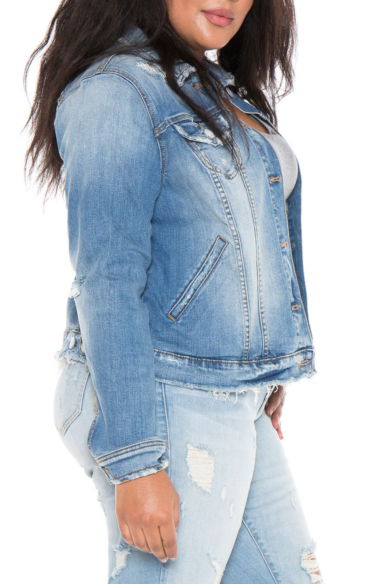 Denim Jacket,                             Alternate thumbnail 3, color,                             Keziah
