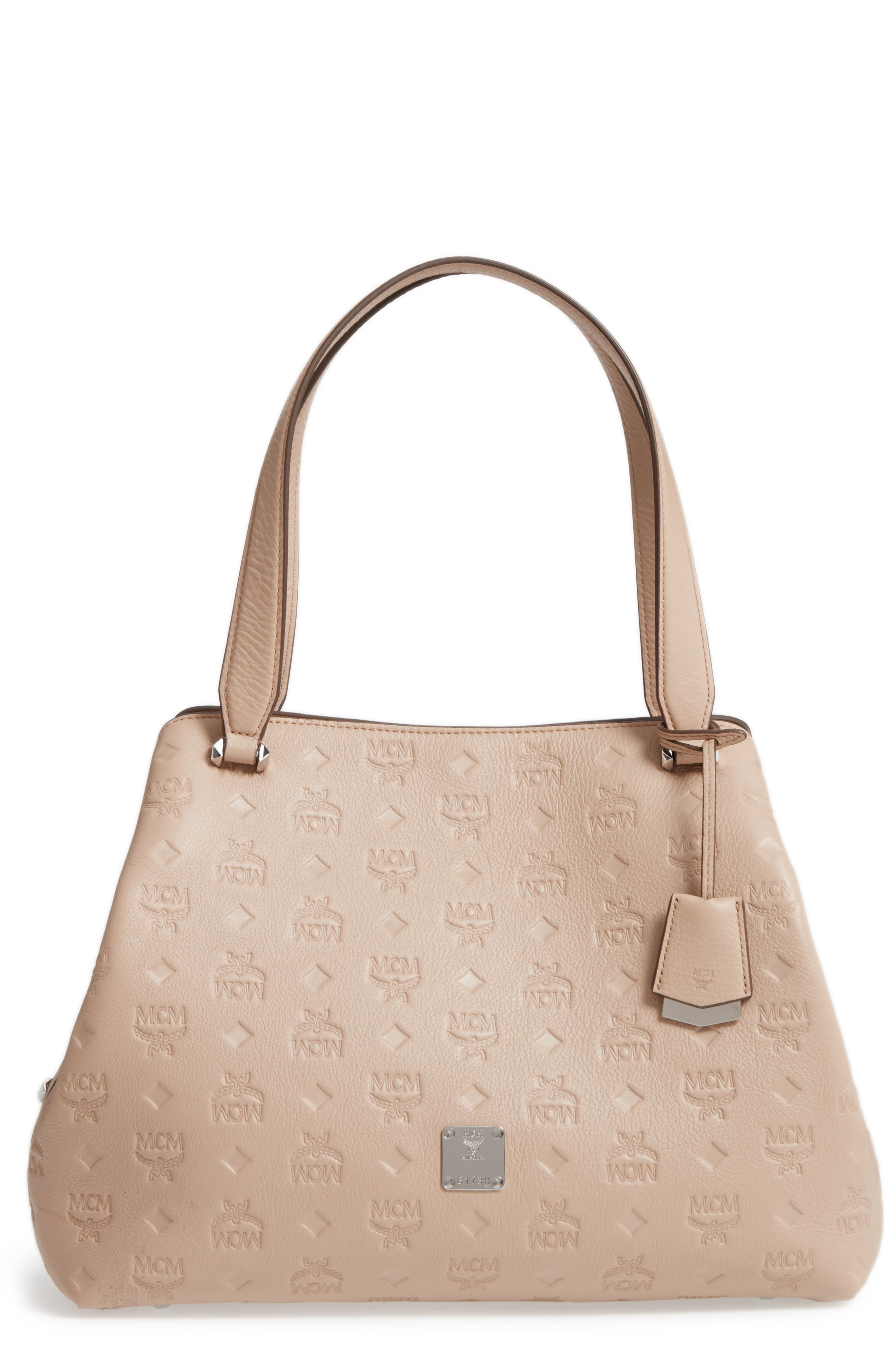 Alternate Image 1 Selected - MCM Signature Monogrammed Leather Handbag