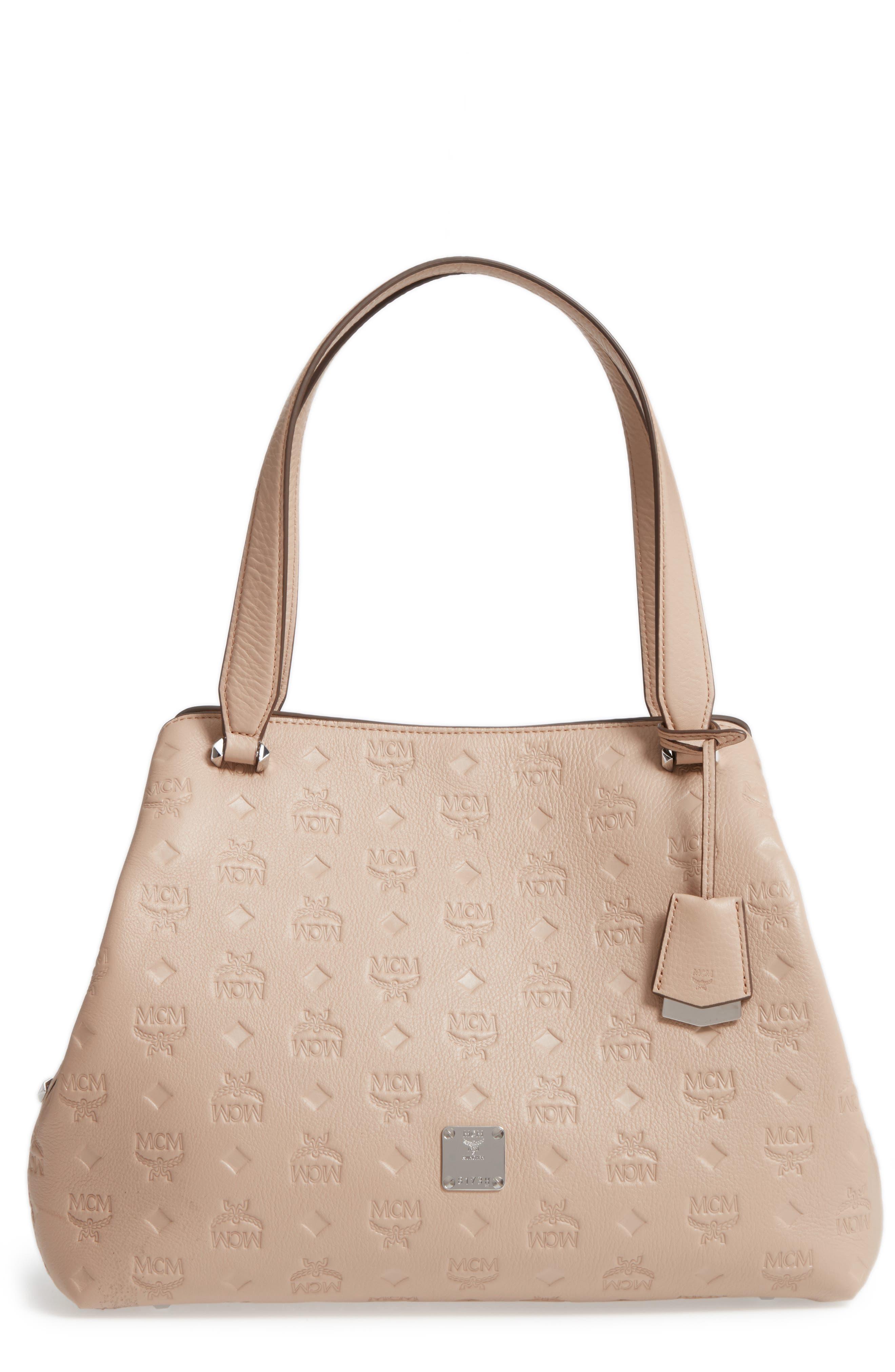 Main Image - MCM Signature Monogrammed Leather Handbag