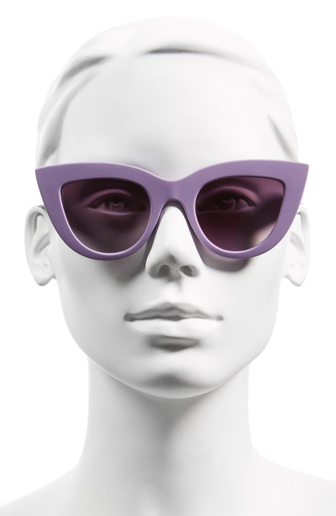 42mm Cat Eye Sunglasses,                             Alternate thumbnail 2, color,                             Purple