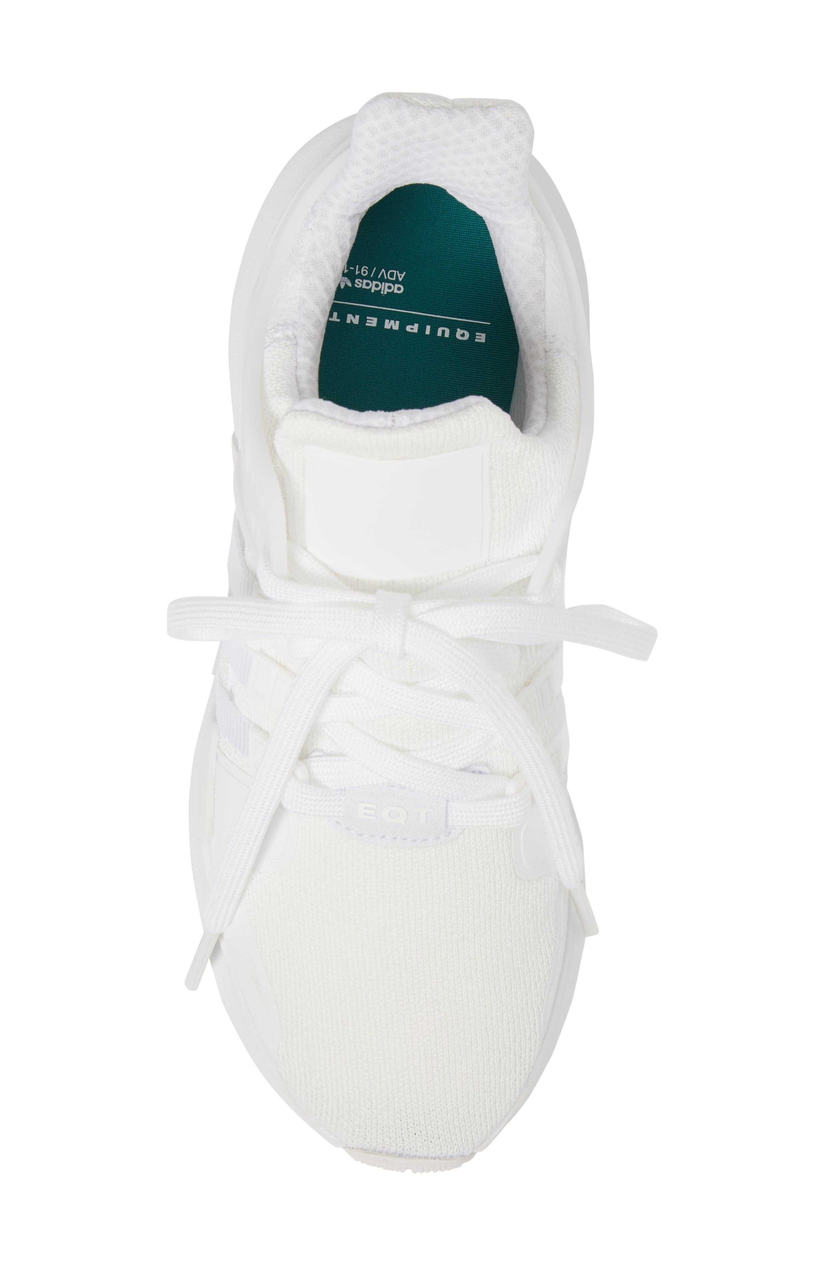 EQT Support Adv Sneaker,                             Alternate thumbnail 5, color,                             White/Core Black
